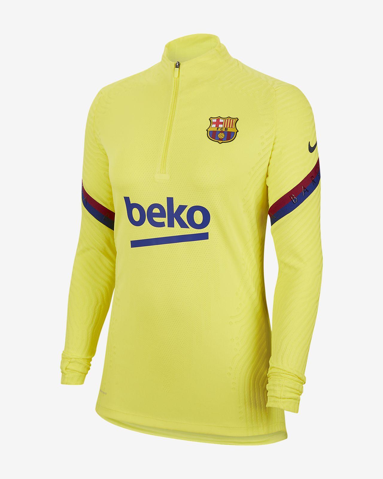 Camiseta de entrenamiento de fútbol para mujer Nike VaporKnit FC Barcelona Strike