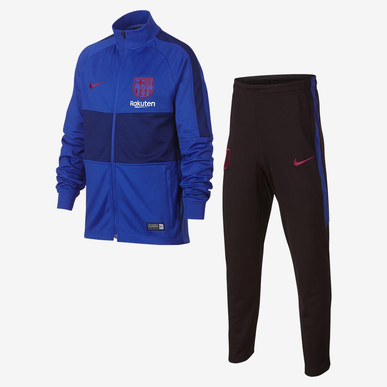 Nike Dri-FIT FC Barcelona Strike-fodboldtracksuit til store børn