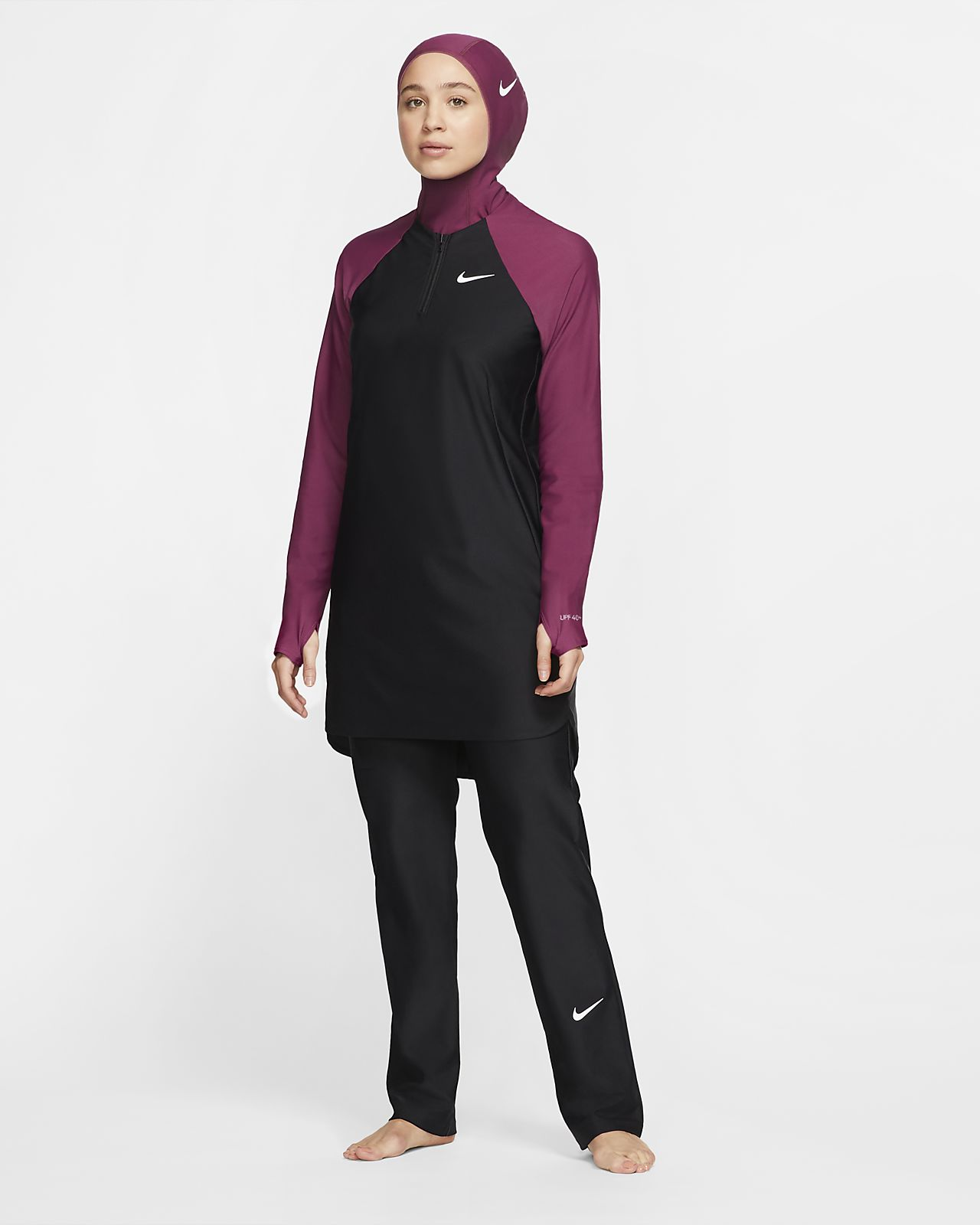Nike Victory Women's Straight-Leg Full-Coverage Swimming Leggings