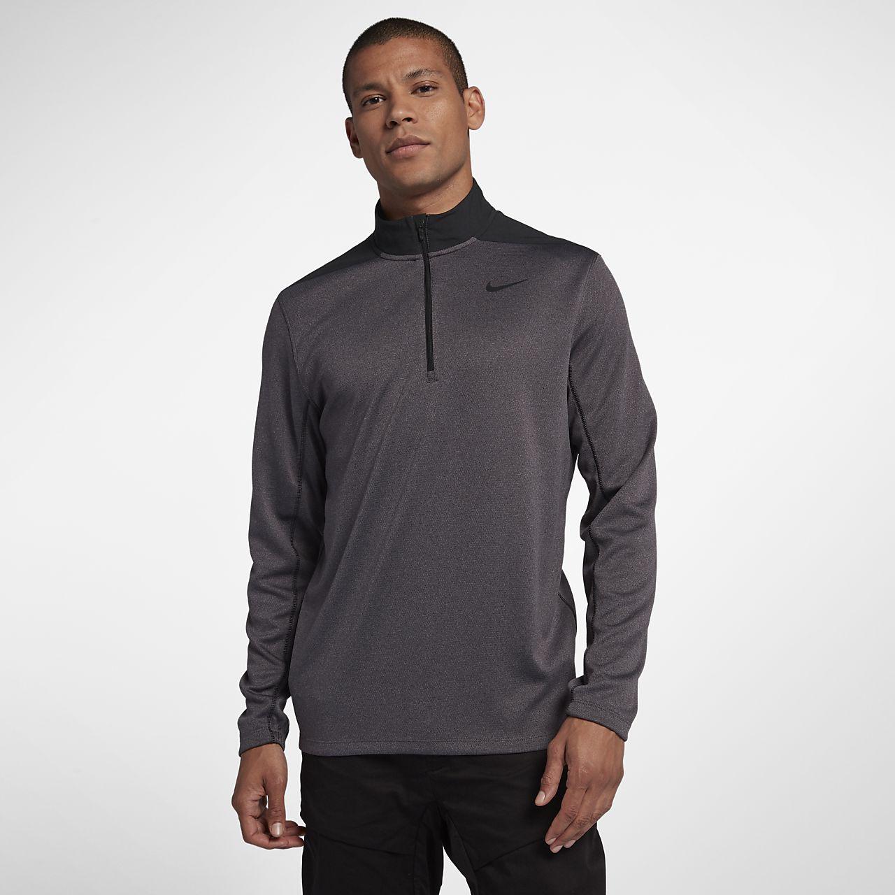 Nike Dri-FIT rövid cipzáras férfi golffelső