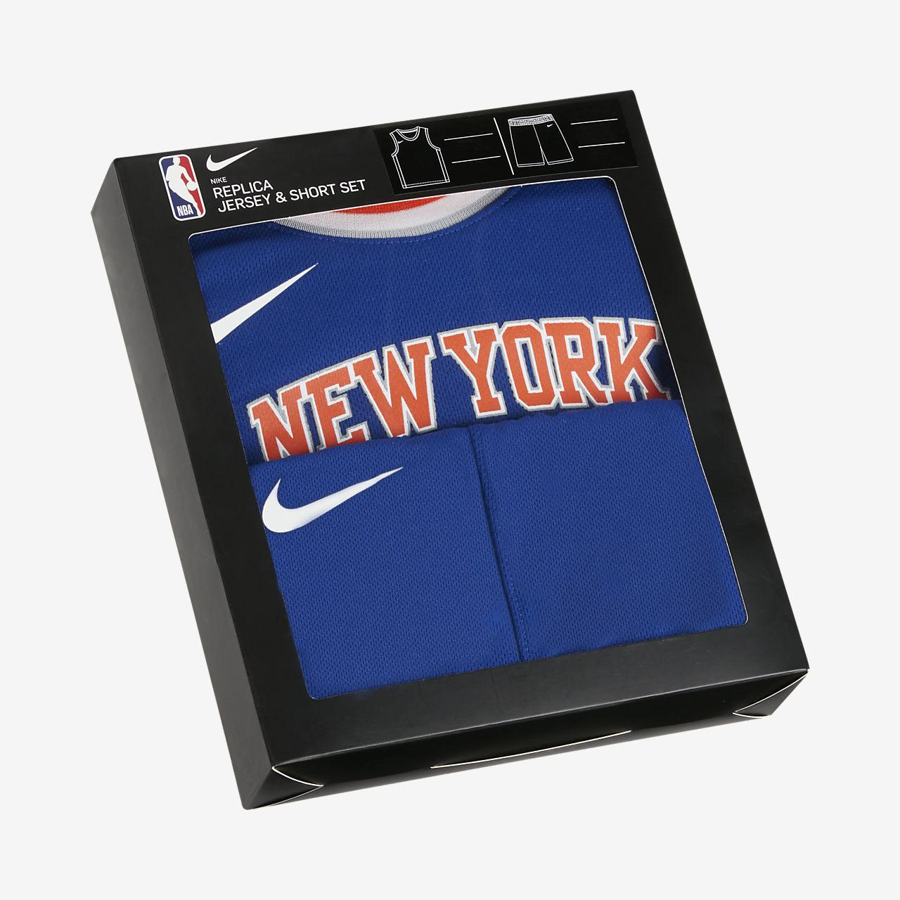 Knicks Replica Set met Nike NBA-jersey en -shorts voor peuters