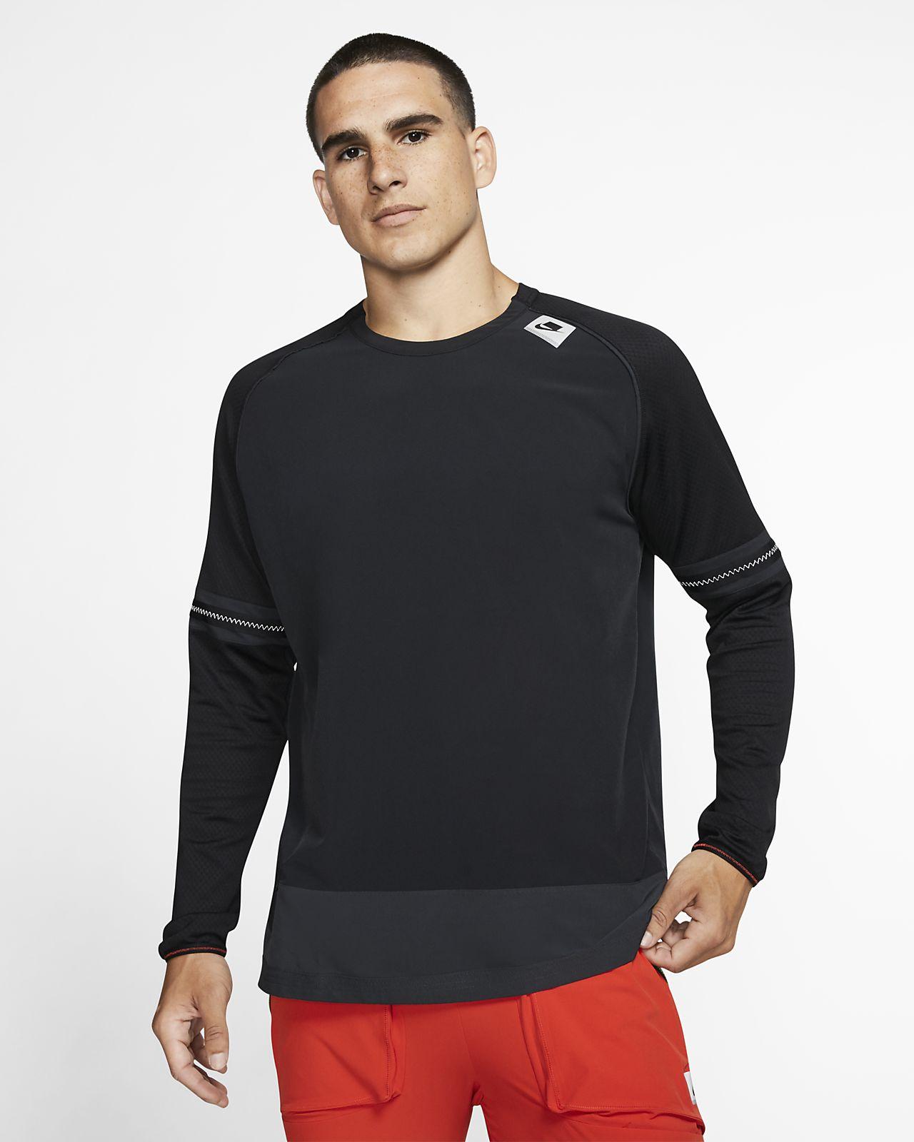 Langærmet Nike Wild RUn-løbeoverdel til mænd