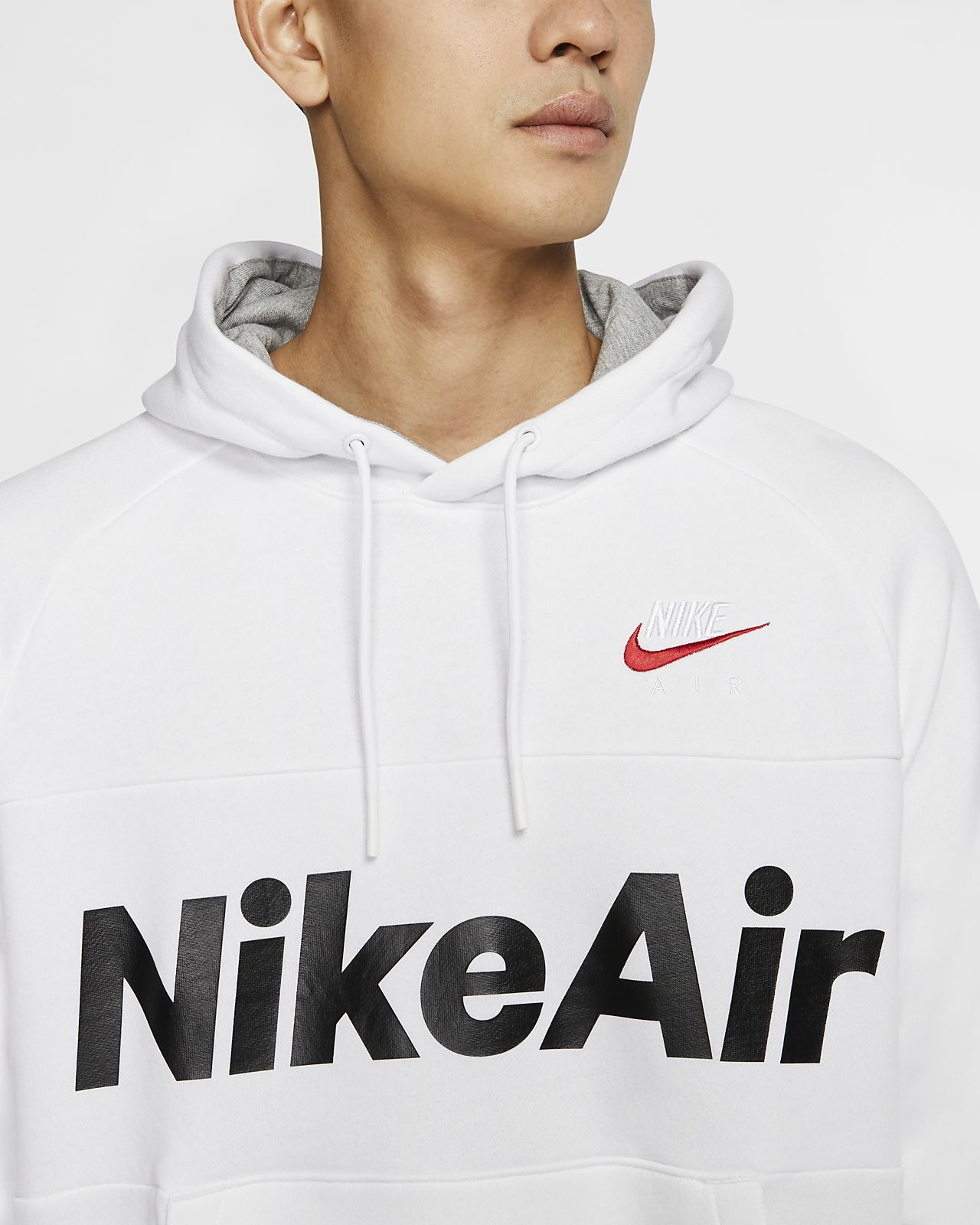 Felpa pullover in fleece con cappuccio Nike Air Uomo
