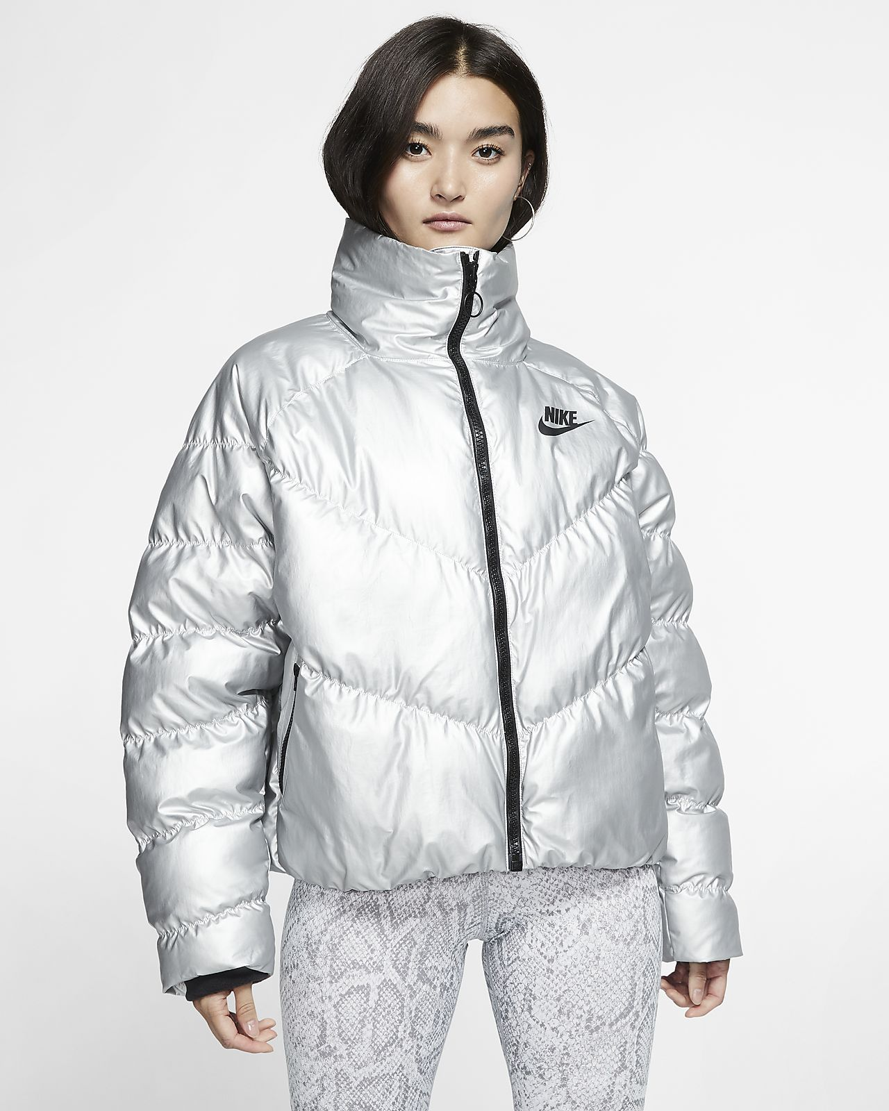 Nike Sportswear Synthetic Fill glänzende Damenjacke