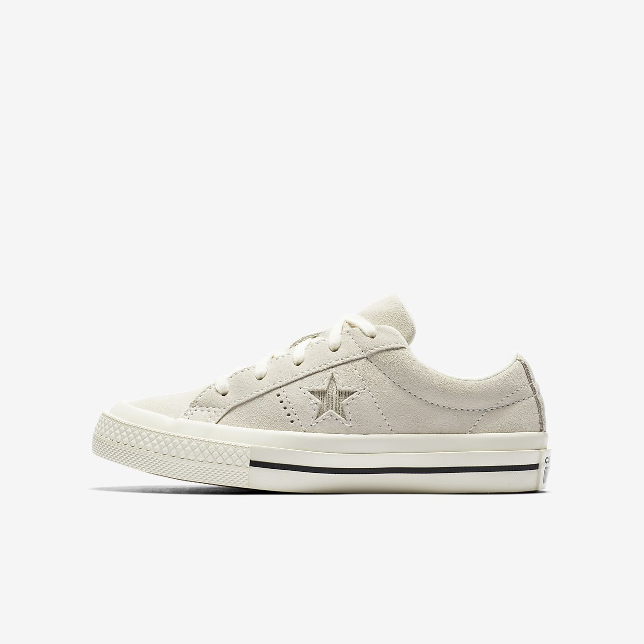 Converse One Star Precious Metal Suede Low Top Girls' Shoe
