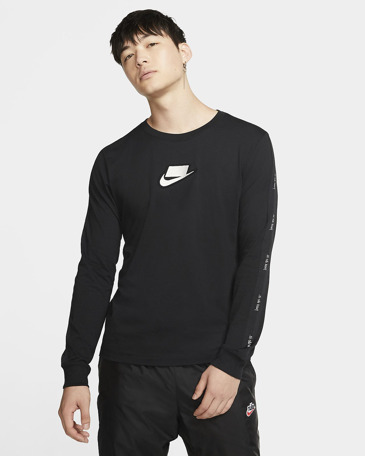 get cheap new images of no sale tax Tee-shirt à manches longues Nike Sportswear NSW pour Homme