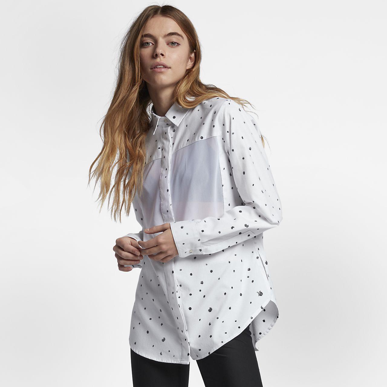 Hurley Wilson Women's Long Sleeve Shirts White