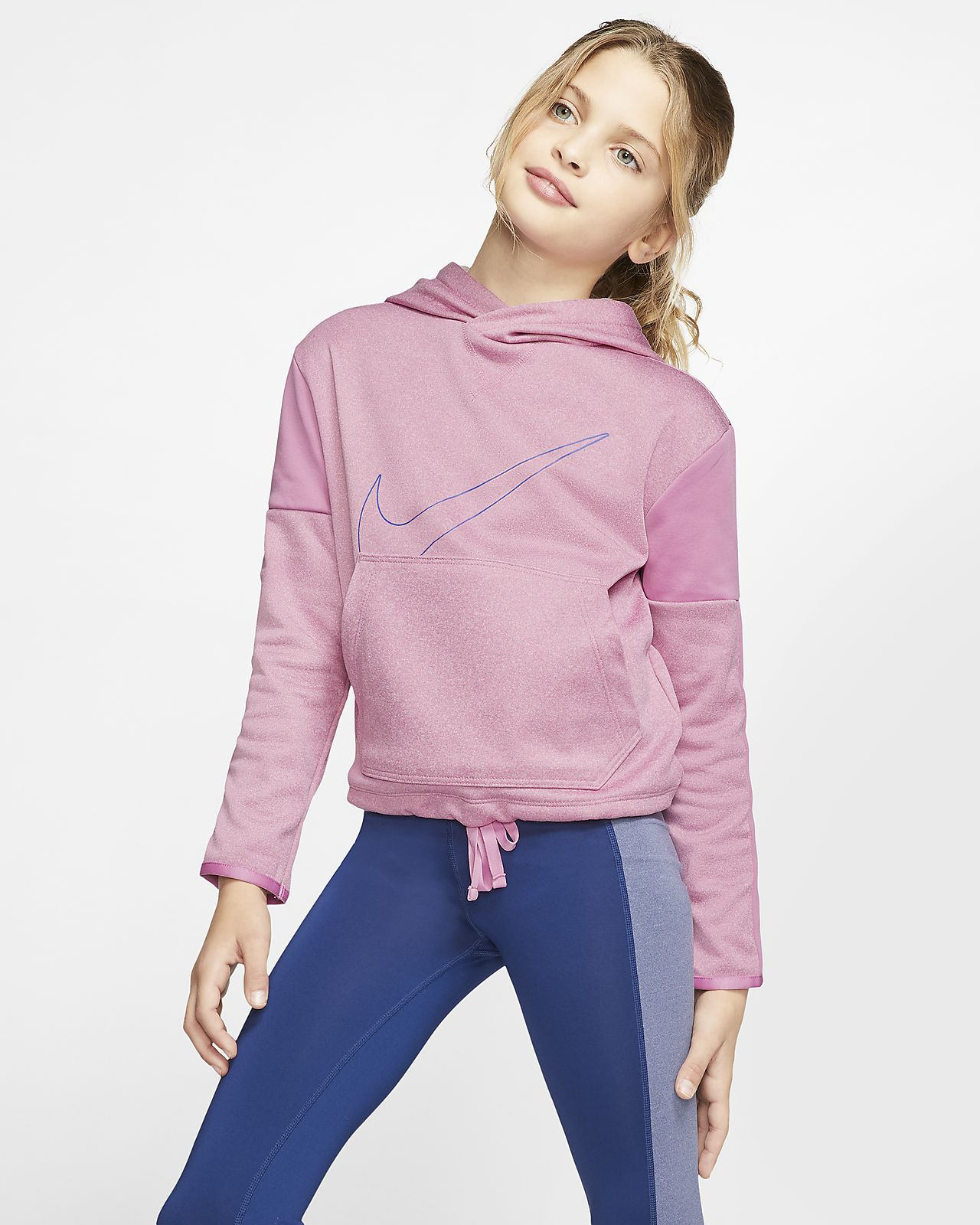 Nike Therma Girls' Graphic Training Pullover Hoodie