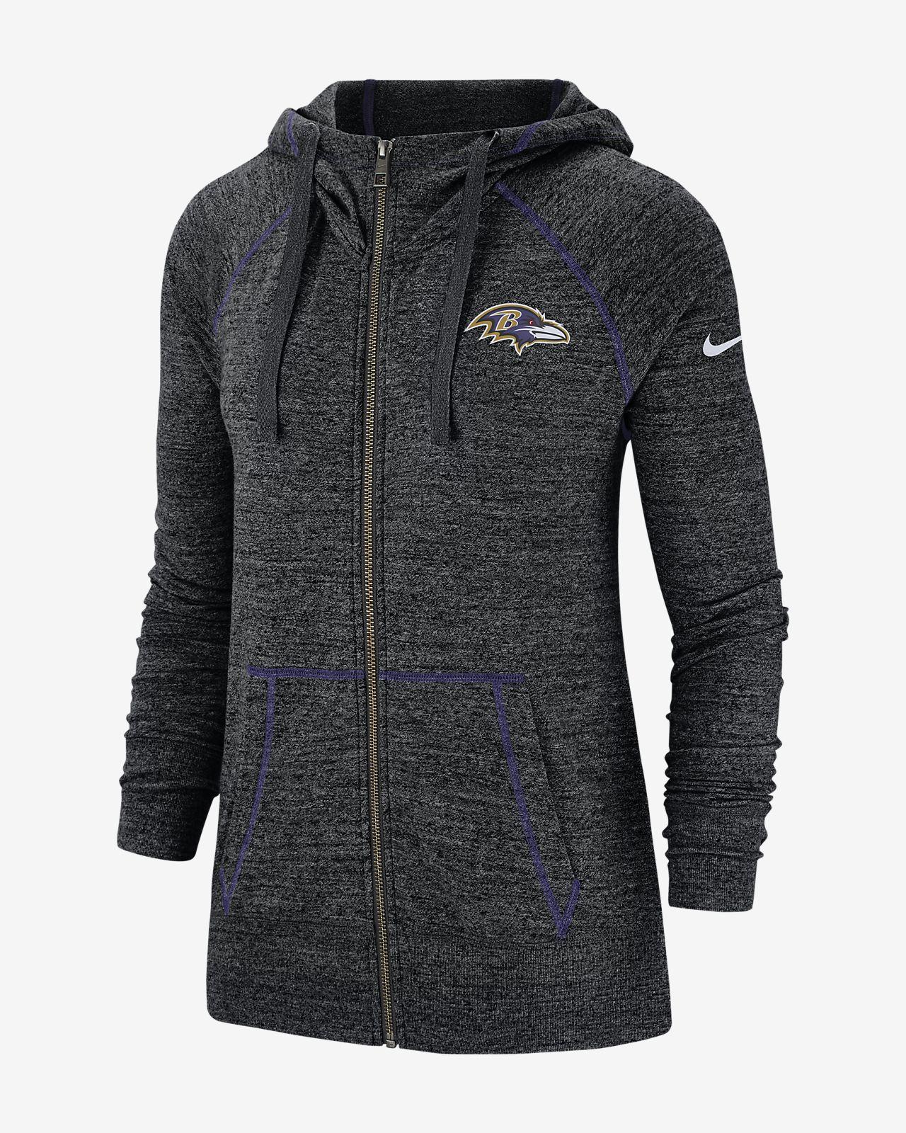 Nike Gym Vintage (NFL Ravens) Women's Full-Zip Hoodie