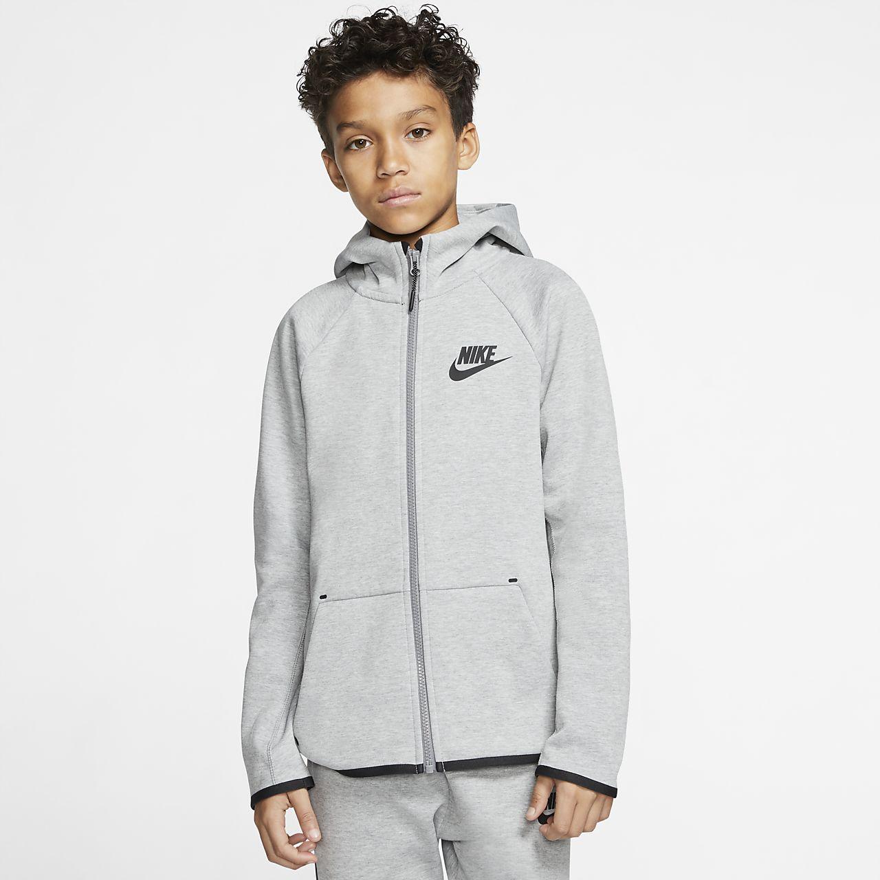 Nike Sportswear Tech Fleece-jakke med lynlås i fuld længde til store børn
