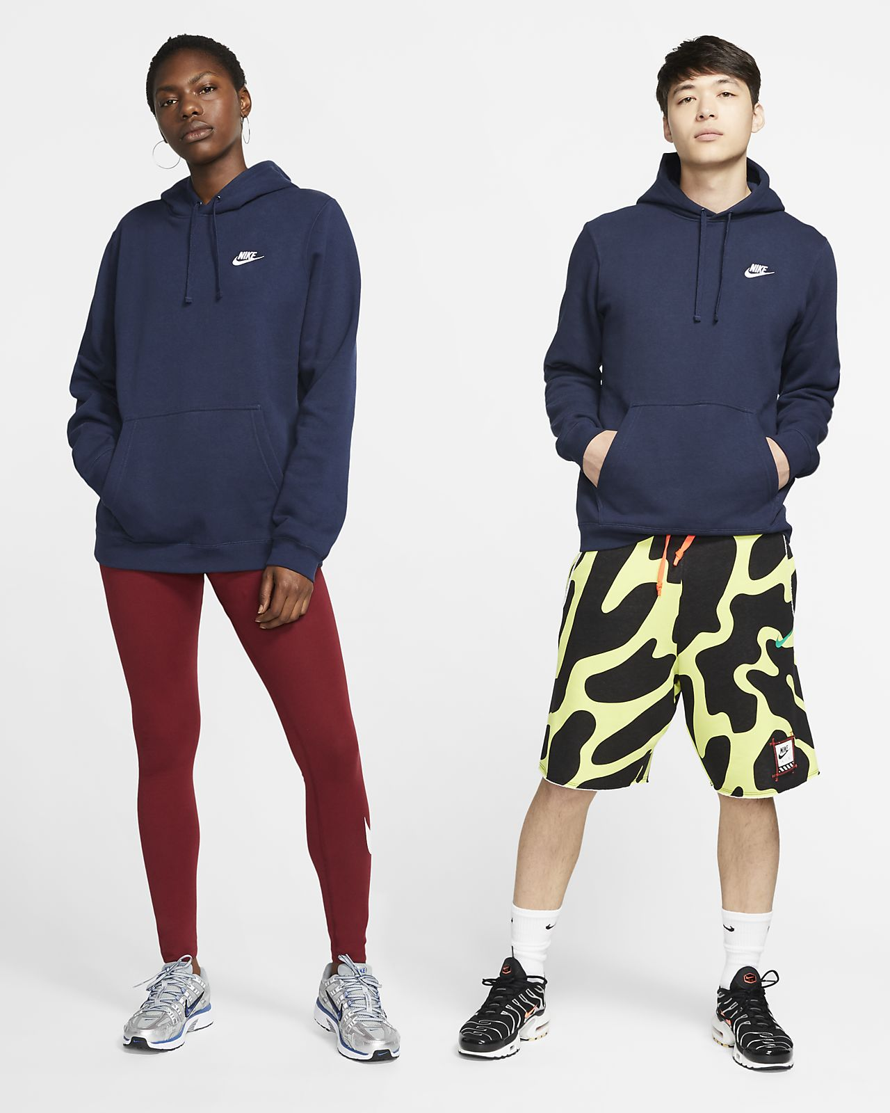 nike sportswear m club po hoodie ob/mb