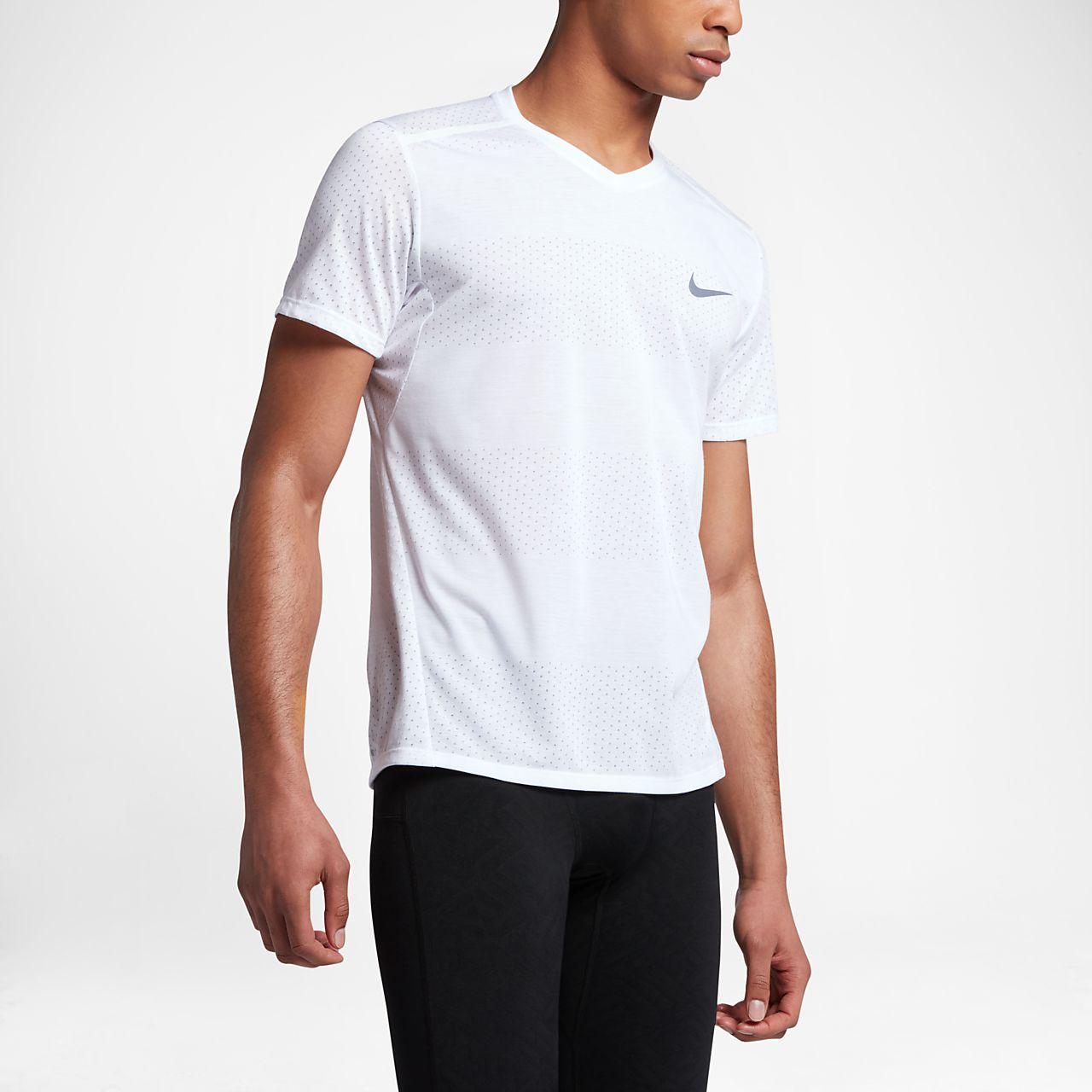Nike Breathe Men's Short Sleeve Running Top White