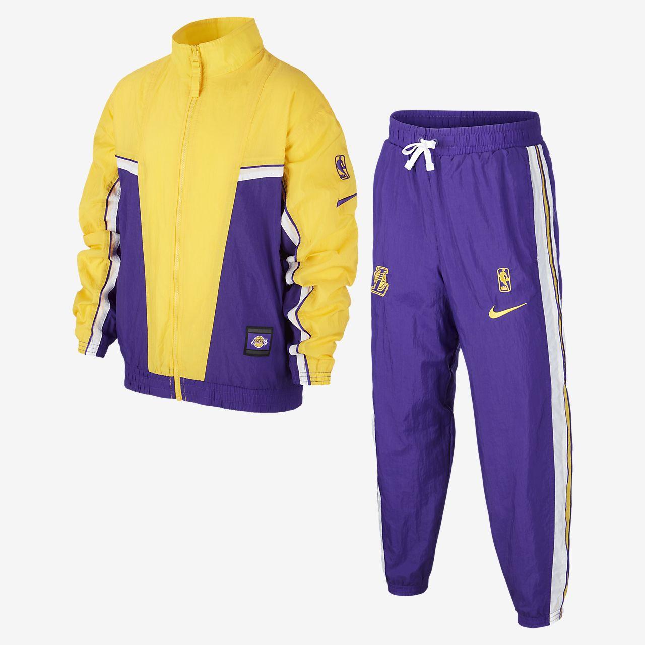 Lakers City Edition Courtside NBA Trainingsanzug für ältere Kinder