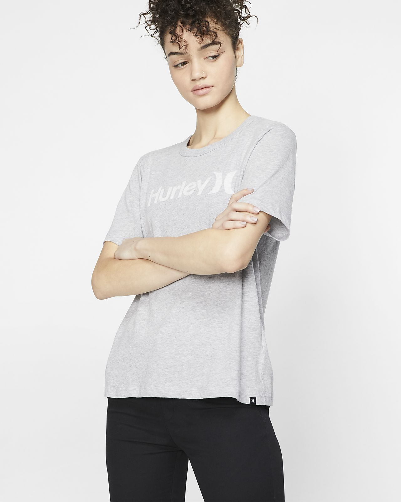 Hurley One And Only Push Through Women's Short-Sleeve Crew
