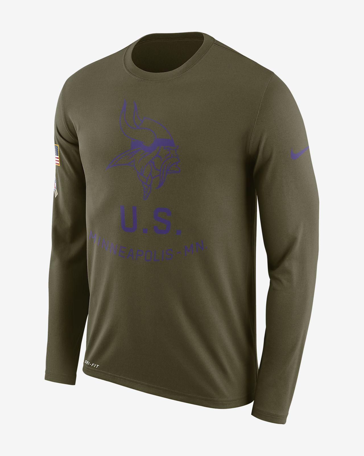 Nike Legend Salute to Service (NFL Vikings) Men's Long-Sleeve T-Shirt