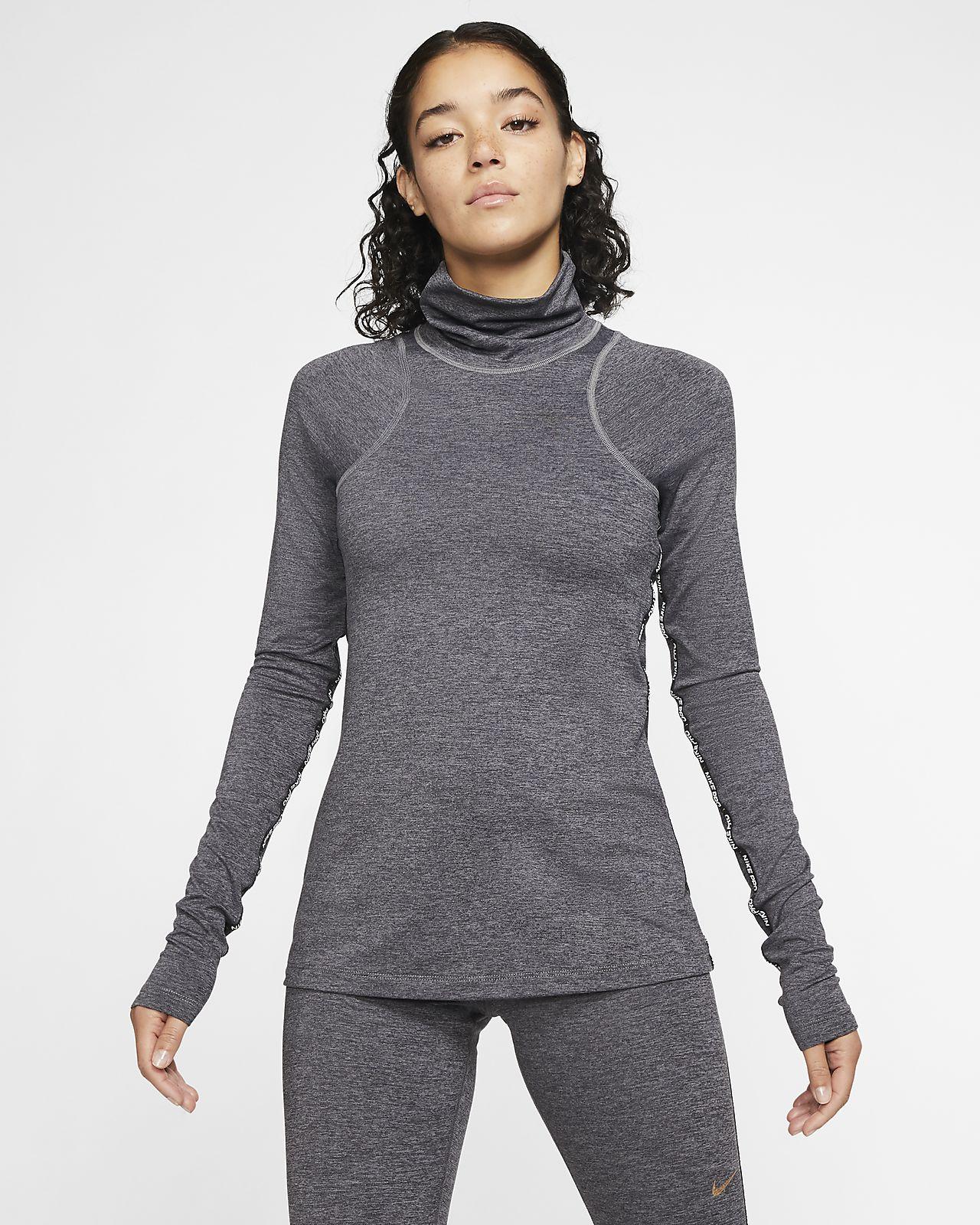 Nike Pro Warm Part superior de màniga llarga metal·litzada - Dona