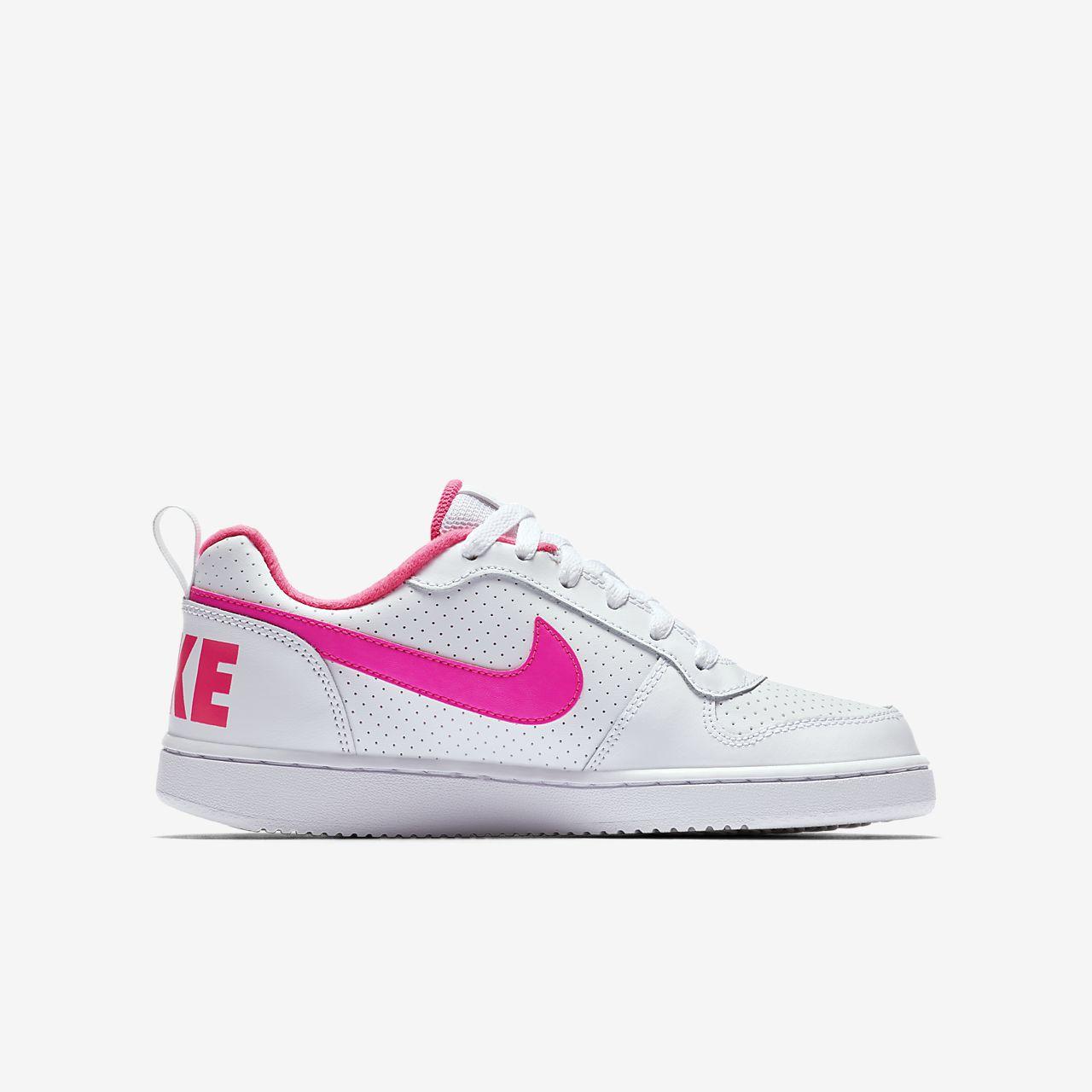 NikeCourt Borough Low Schuh für ältere Kinder - Weiß 6MMfLa