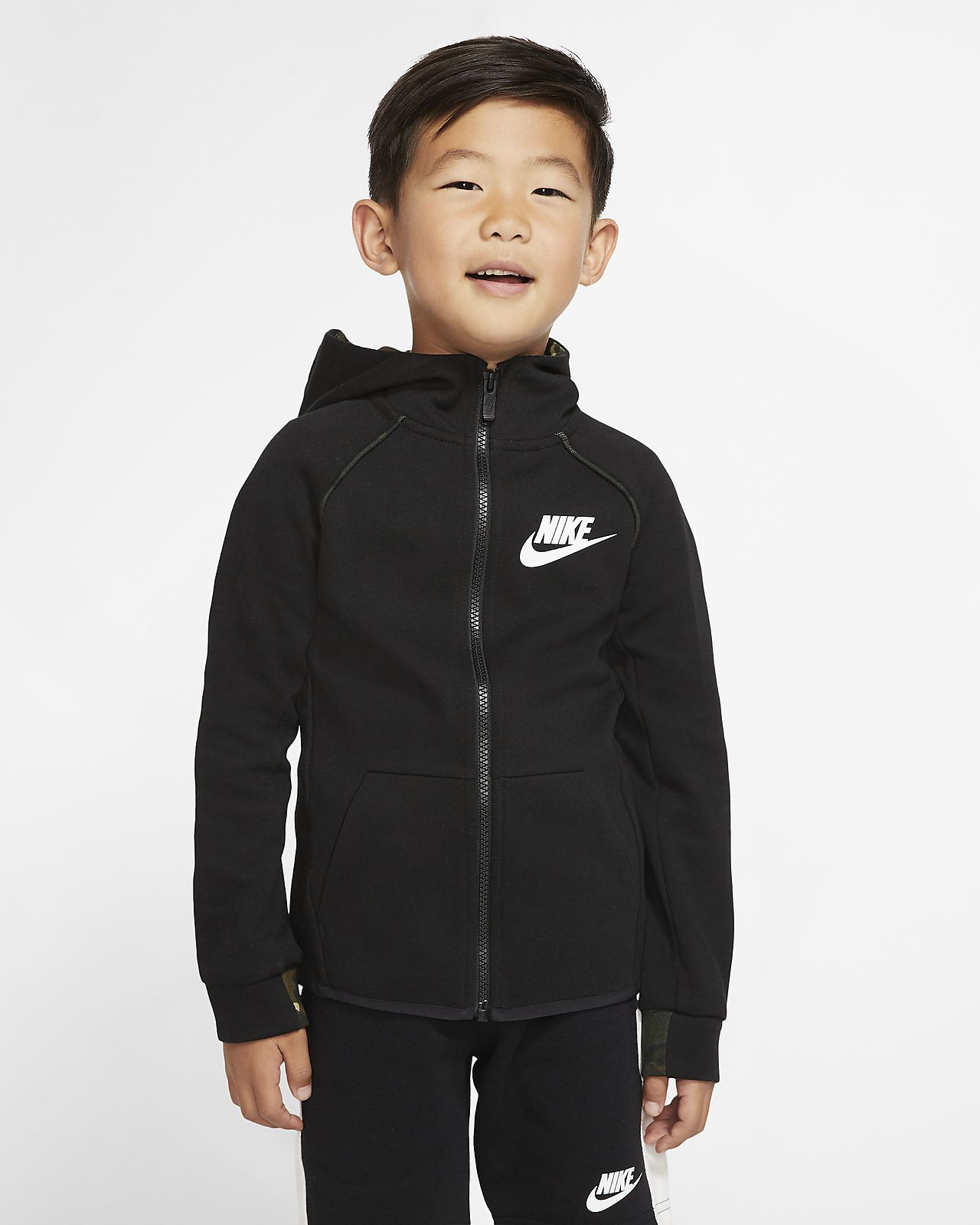 nike fleece zip up