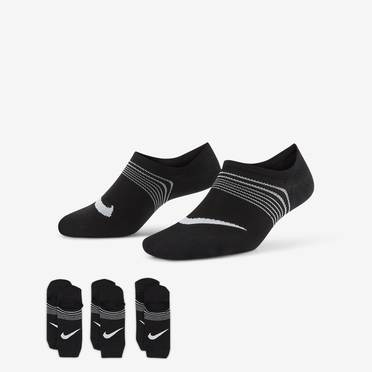 Socquettes ouvertes de training Nike Everyday Plus Lightweight pour Femme (3 paires)