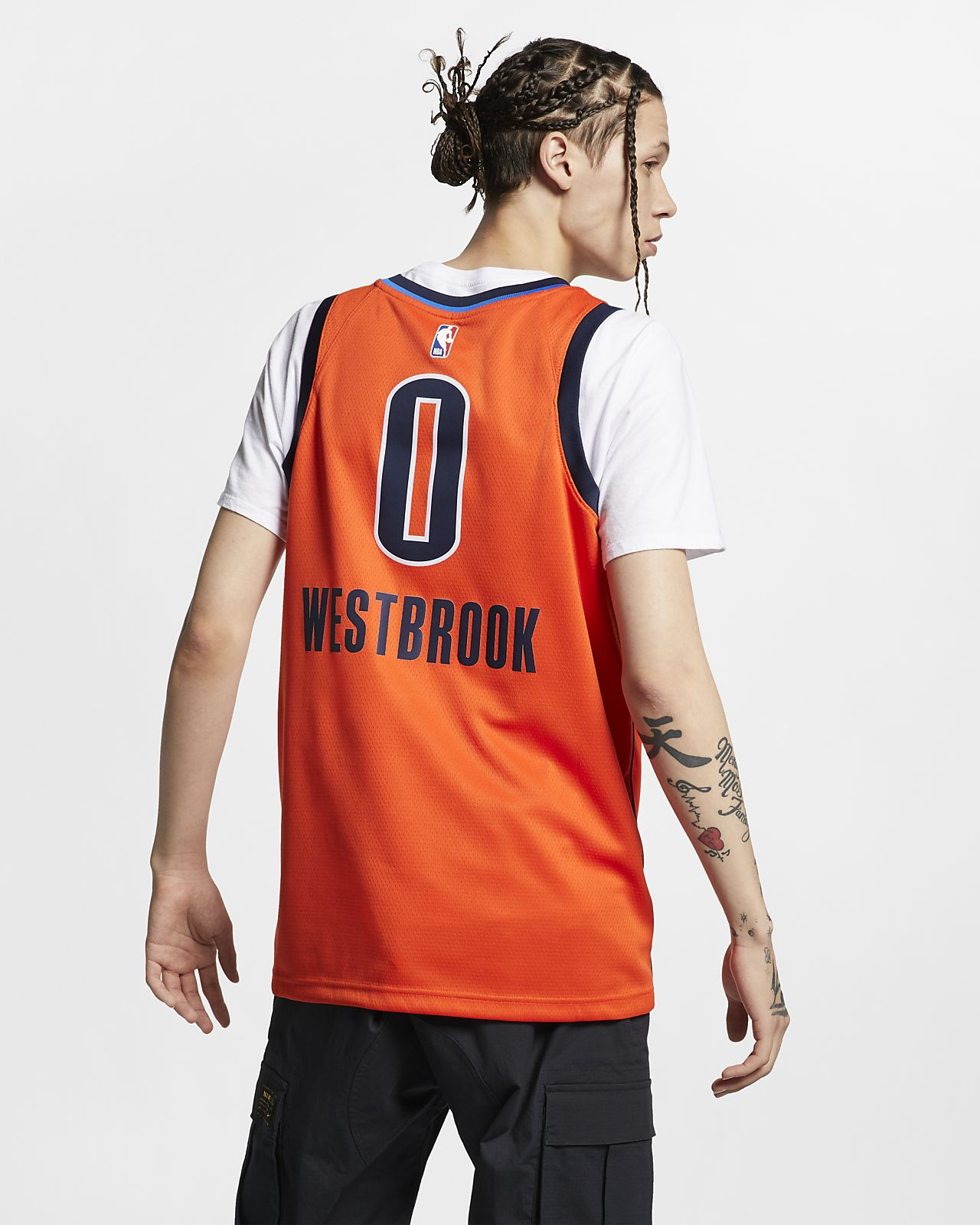 ca933a039d3 ... Russell Westbrook Earned City Edition Swingman (Oklahoma City Thunder) Men s  Nike NBA Connected Jersey