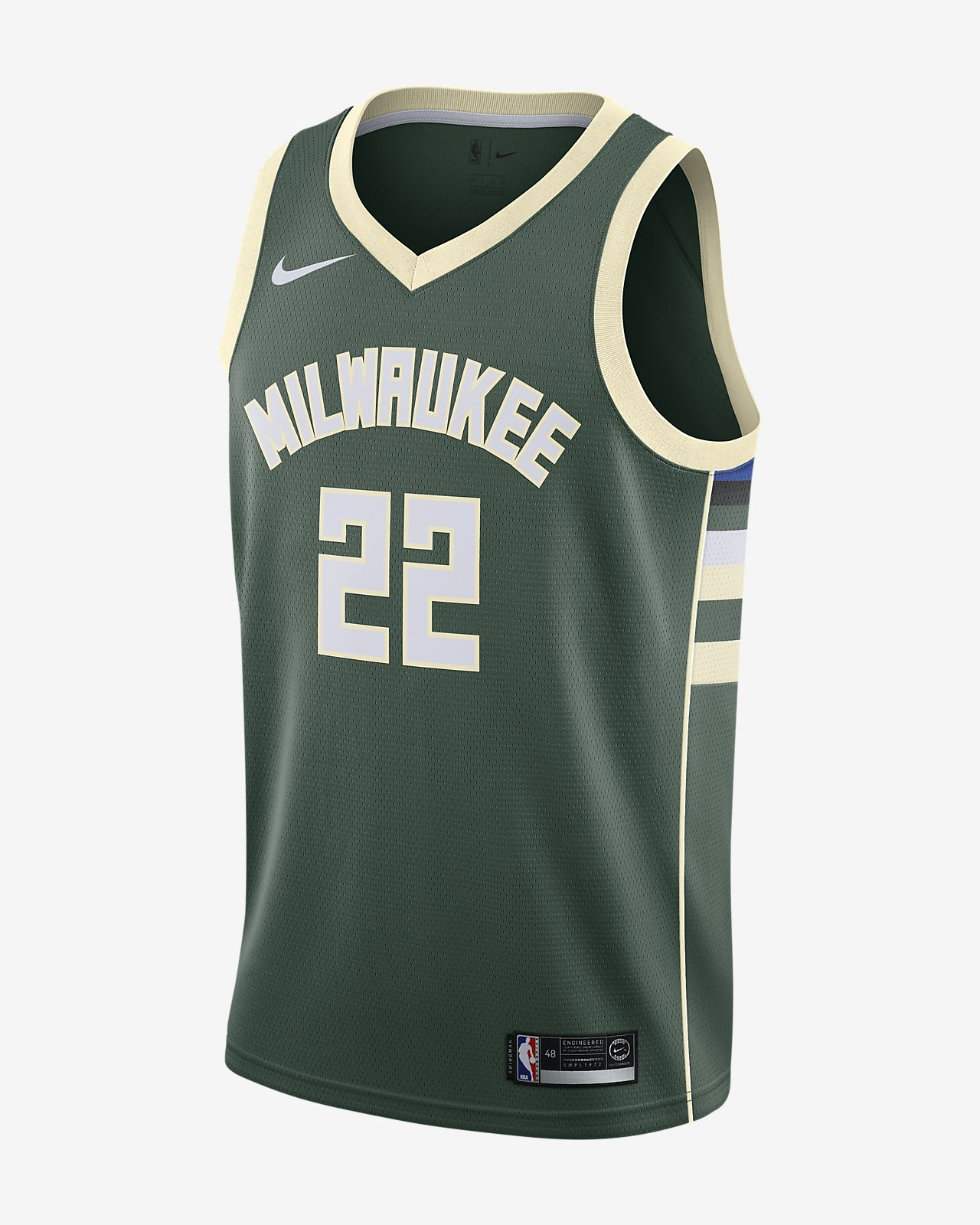 Pánský dres Nike NBA Swingman Connected Khris Middleton Icon Edition(Milwaukee Bucks)