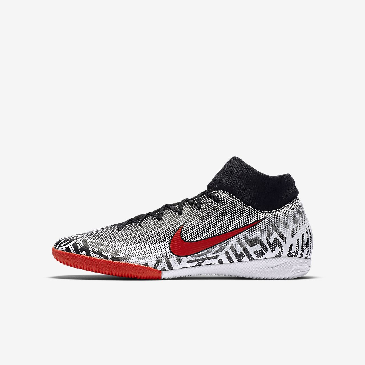 รองเท้าฟุตบอลเด็กเล็ก/โตสำหรับคอร์ทในร่ม Nike Jr. Mercurial Superfly VI Academy Neymar Jr.