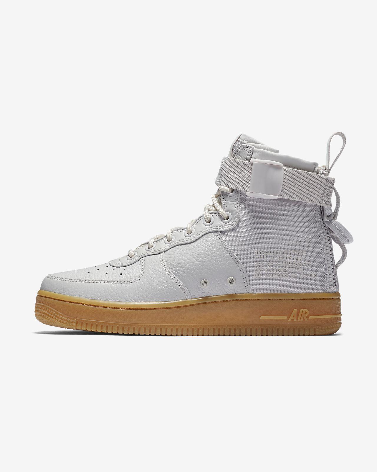 Sf Nike Air Force Chaussures En Daim Gris Moyen 5krgwJAi