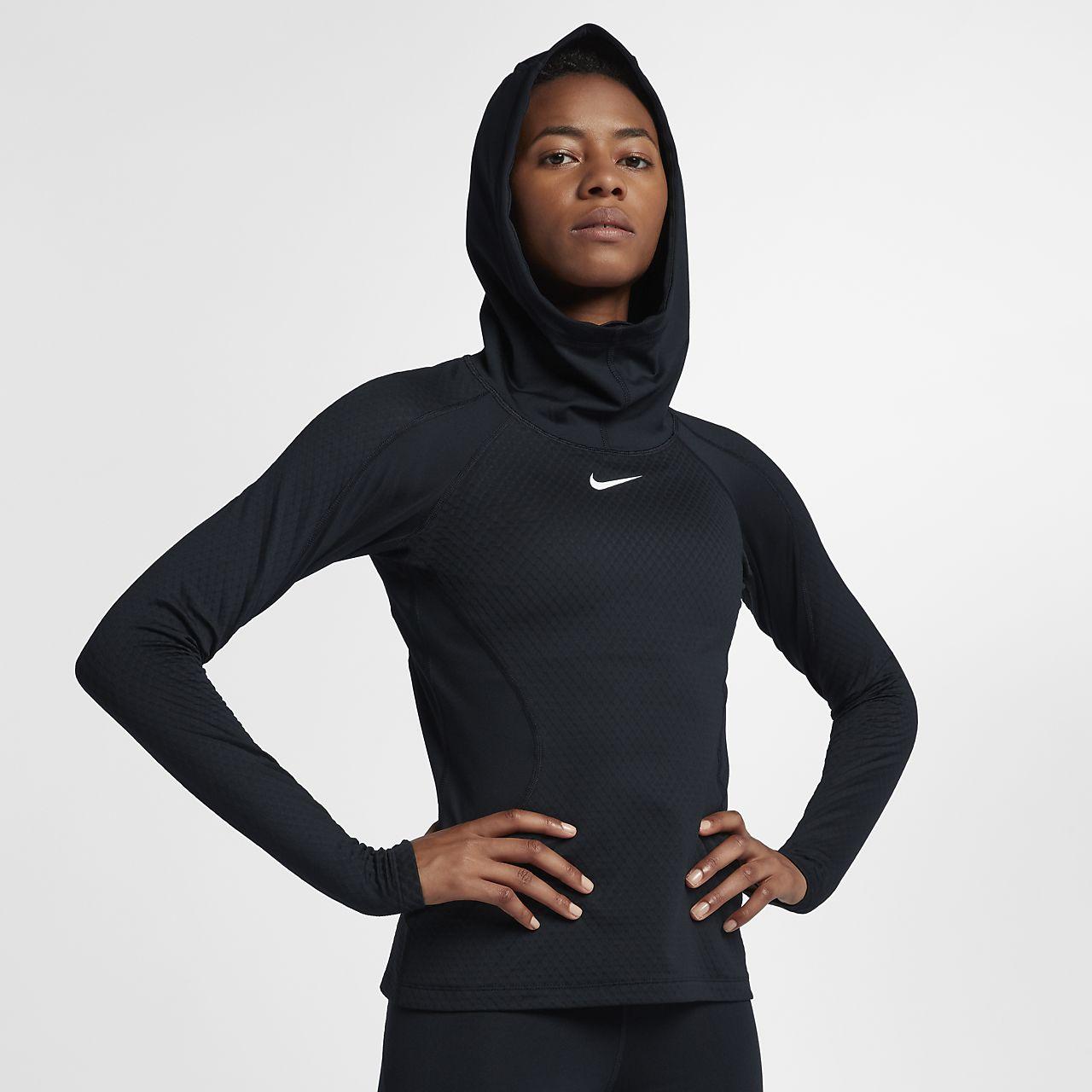 Nike Pro HyperWarm Hooded Women's Training Hoodie