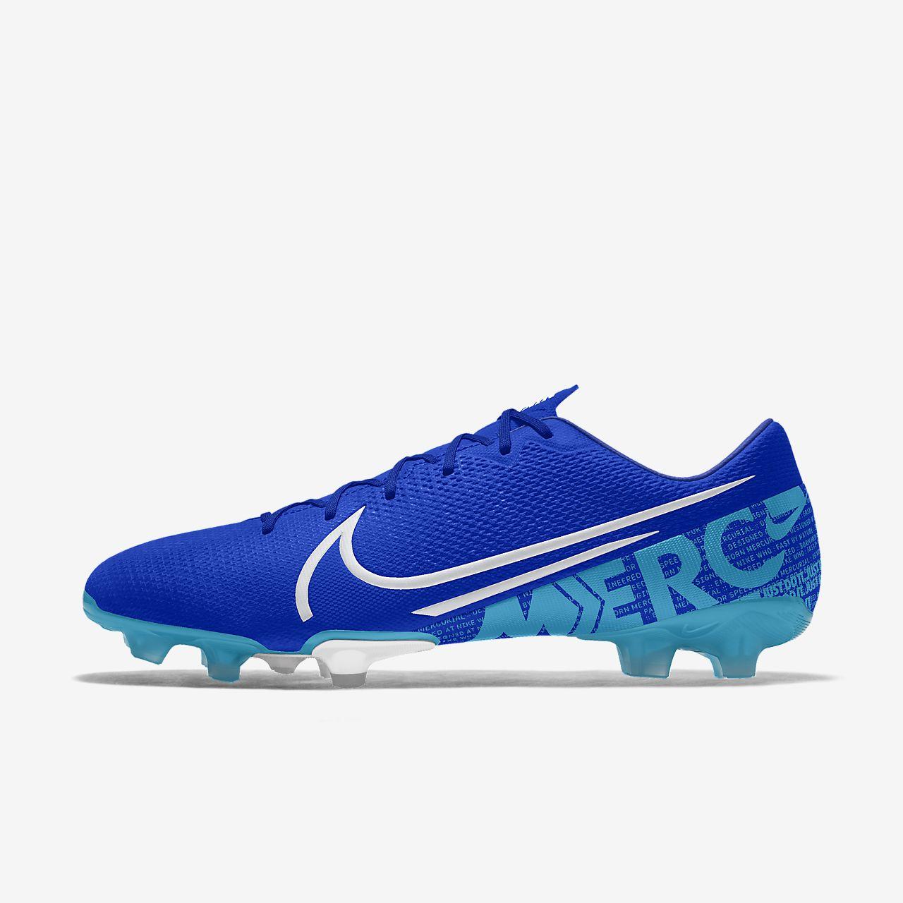 Chaussure de football à crampons pour terrain sec personnalisable Nike Mercurial Vapor 13 Academy FG By You