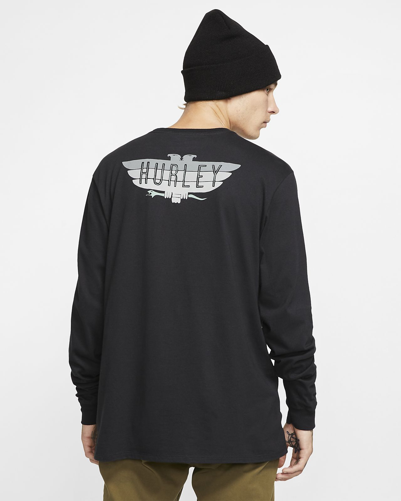 Pánské tričko Hurley Premium Birdbars s dlouhým rukávem