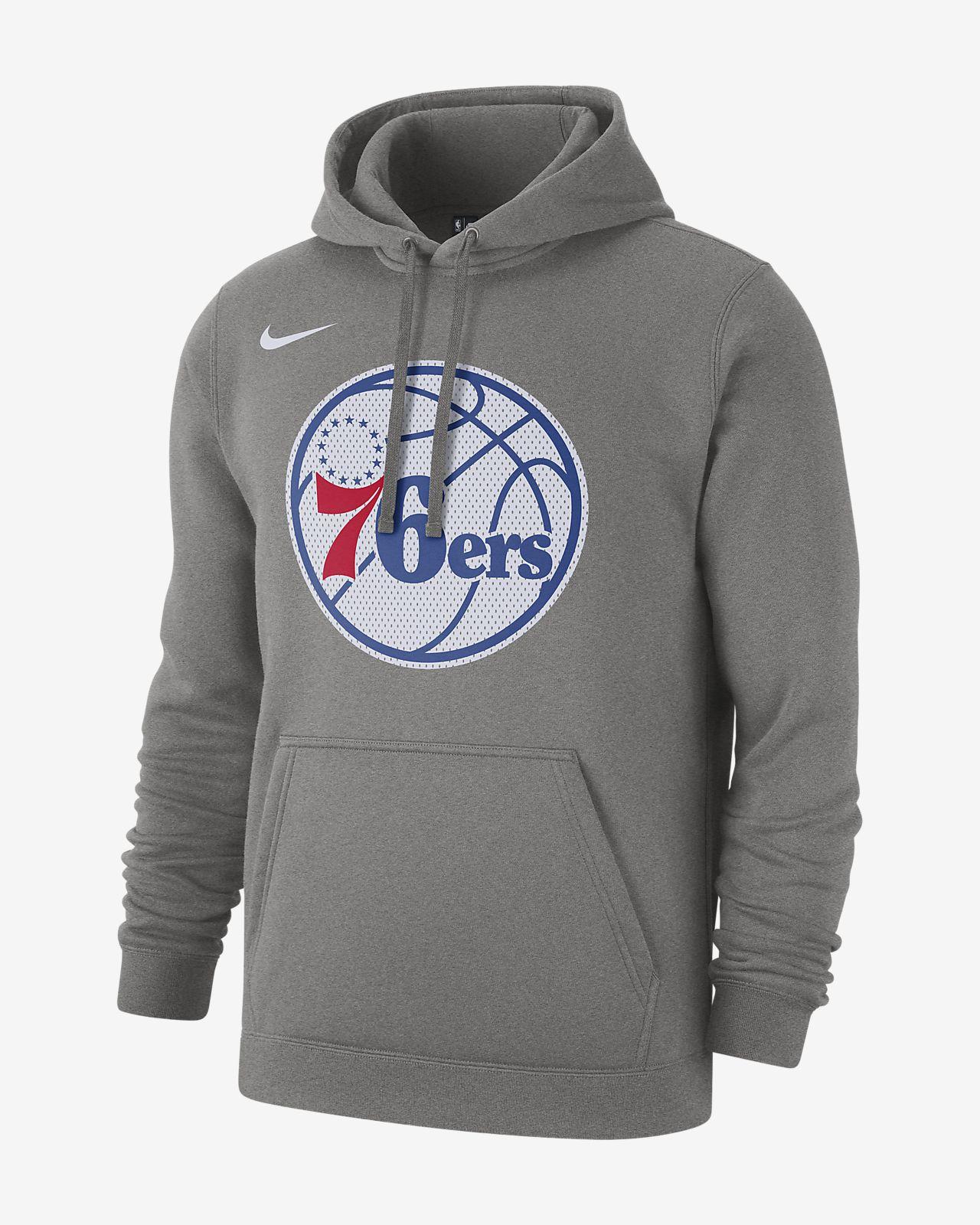Pánská mikina NBA Philadelphia 76ers Nike s kapucí