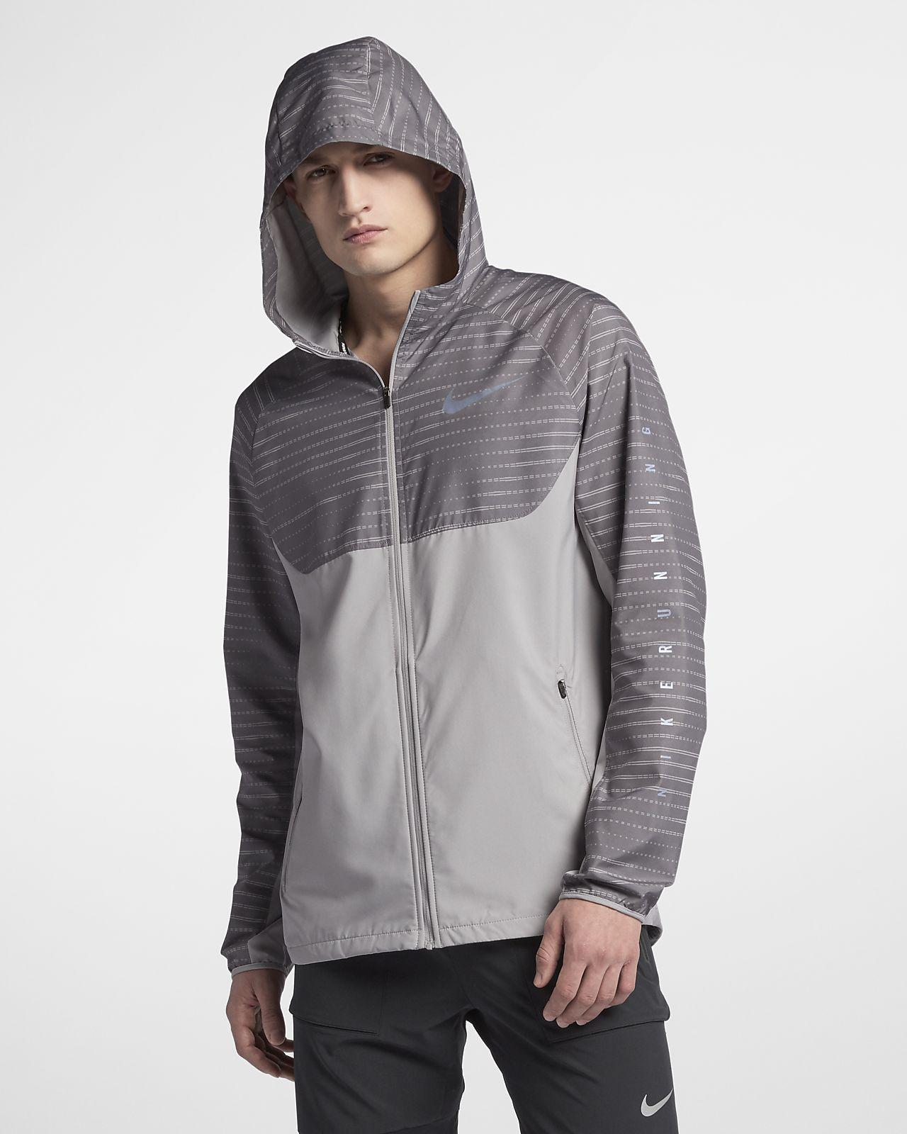 ... Nike Essential Men's Hooded Running Jacket