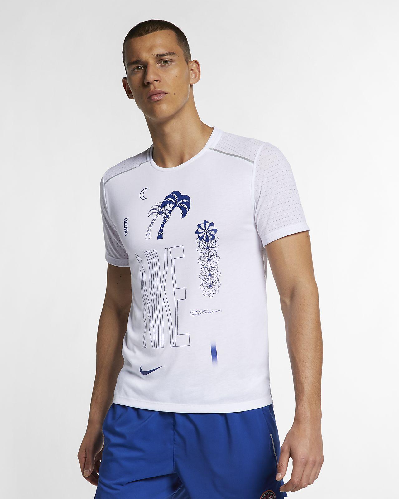Nike Rise 365 男款短袖圖案跑步上衣
