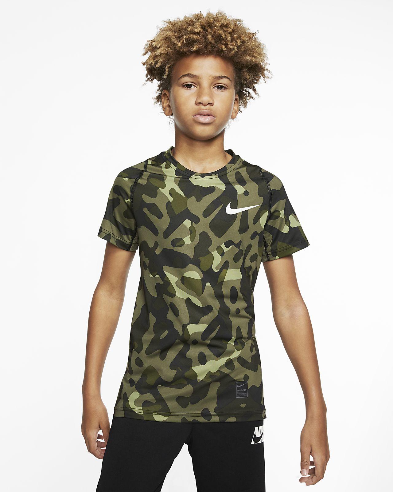 Camisola de manga curta estampada Nike Pro para rapaz