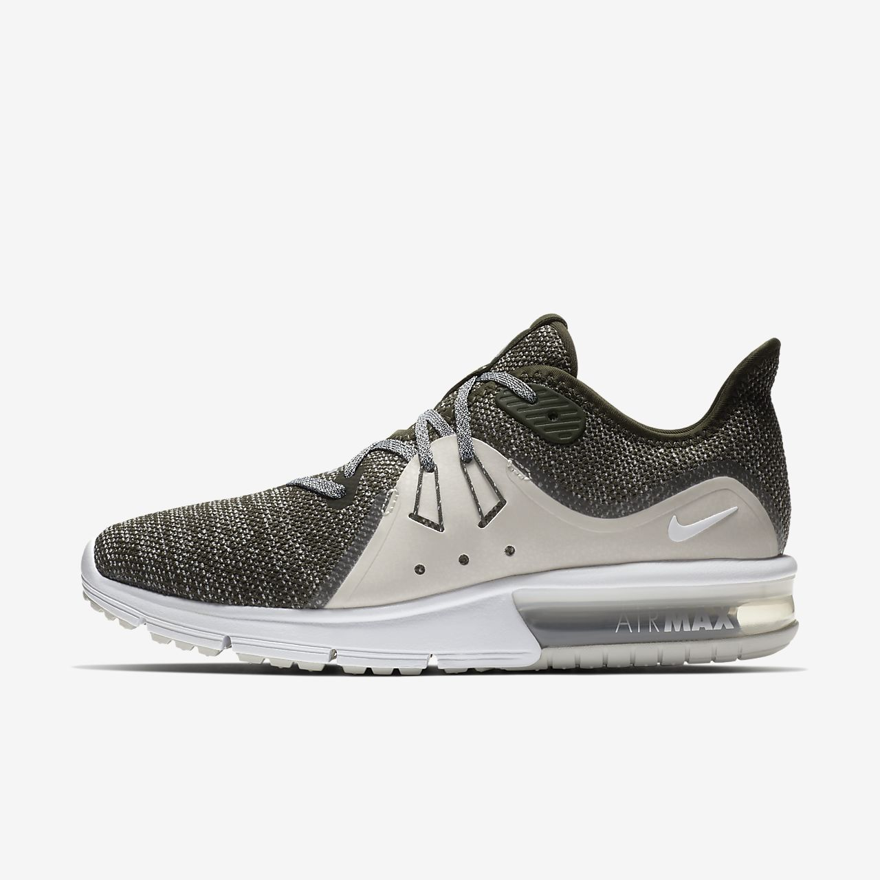 Nike PerformanceAIR MAX SEQUENT 3 - Neutral running shoes - atmosphere grey/crimson pulse nrCNa