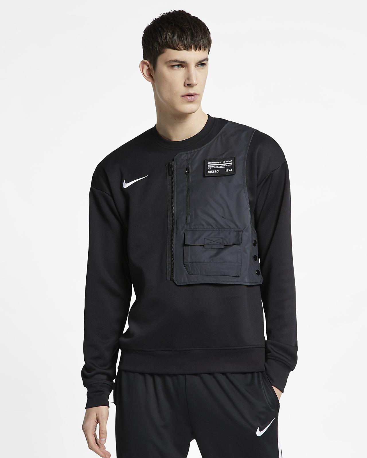 Męska bluza piłkarska z półokrągłym dekoltem Nike F.C.