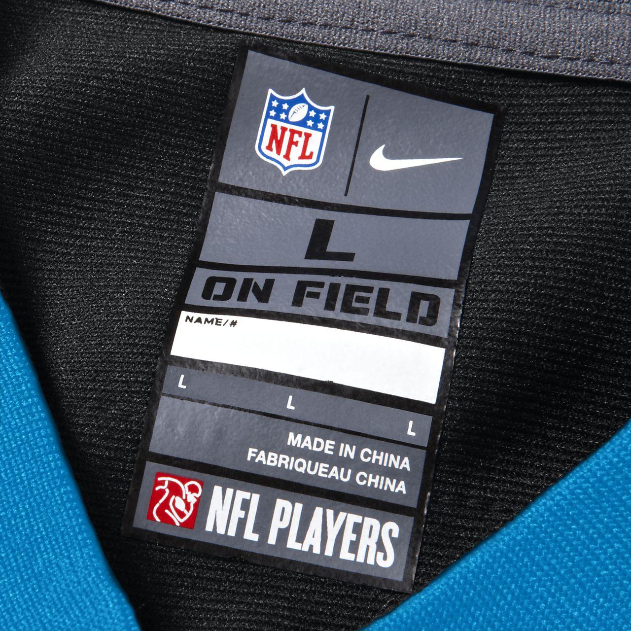 ... NFL Carolina Panthers (Cam Newton) Camiseta de fútbol americano de la  1ª equipación - a610ec5d607