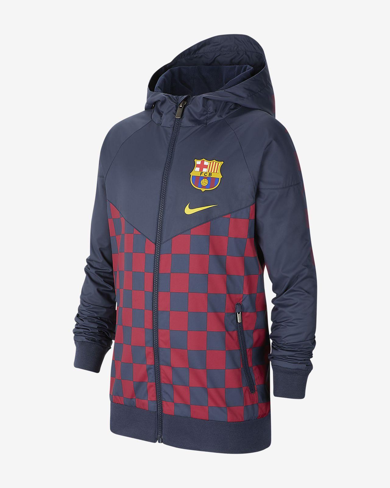 FC Barcelona Windrunner-jakke til store barn
