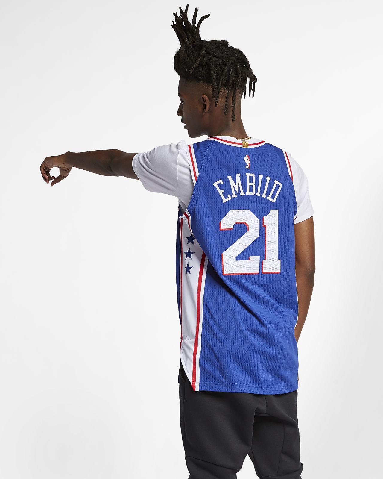 d4dc70deb75 ... Joel Embiid Icon Edition Authentic (Philadelphia 76ers) Men's Nike NBA  Connected Jersey