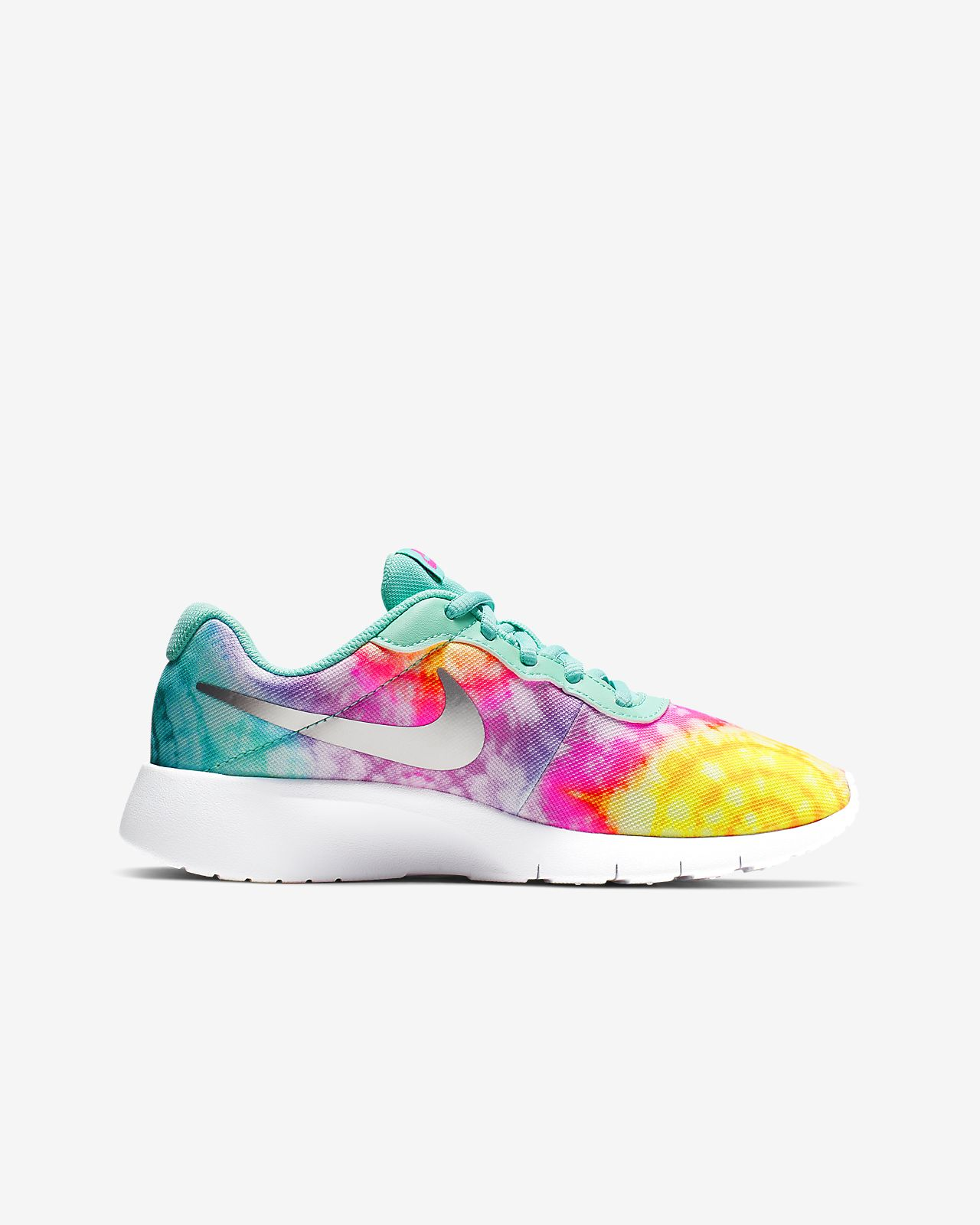 Nike Tanjun Print Girls Running Shoes Lace up Big Kids