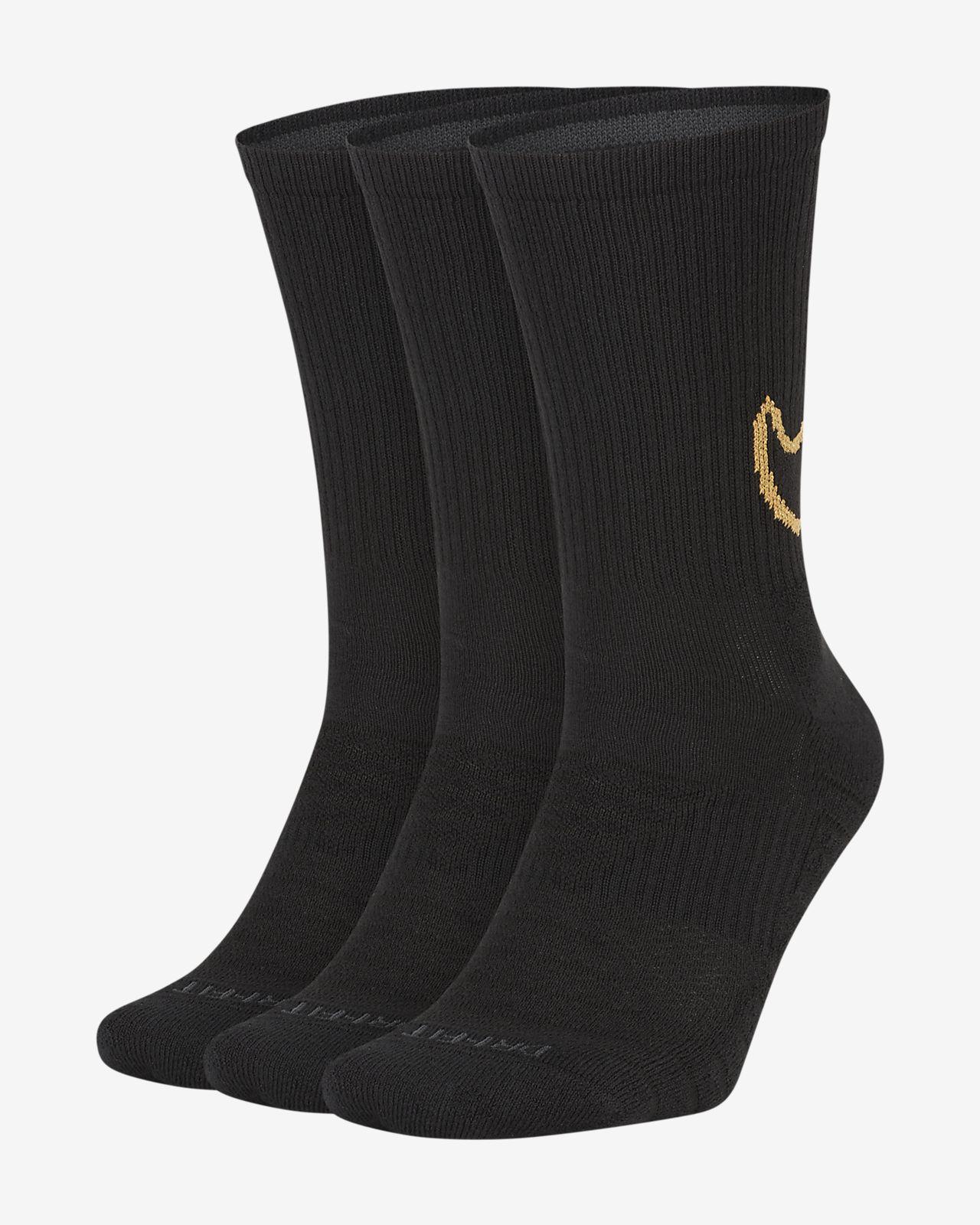 Κάλτσες προπόνησης μεσαίου ύψους με αντικραδασμική προστασία Nike Everyday Max (3 ζευγάρια)