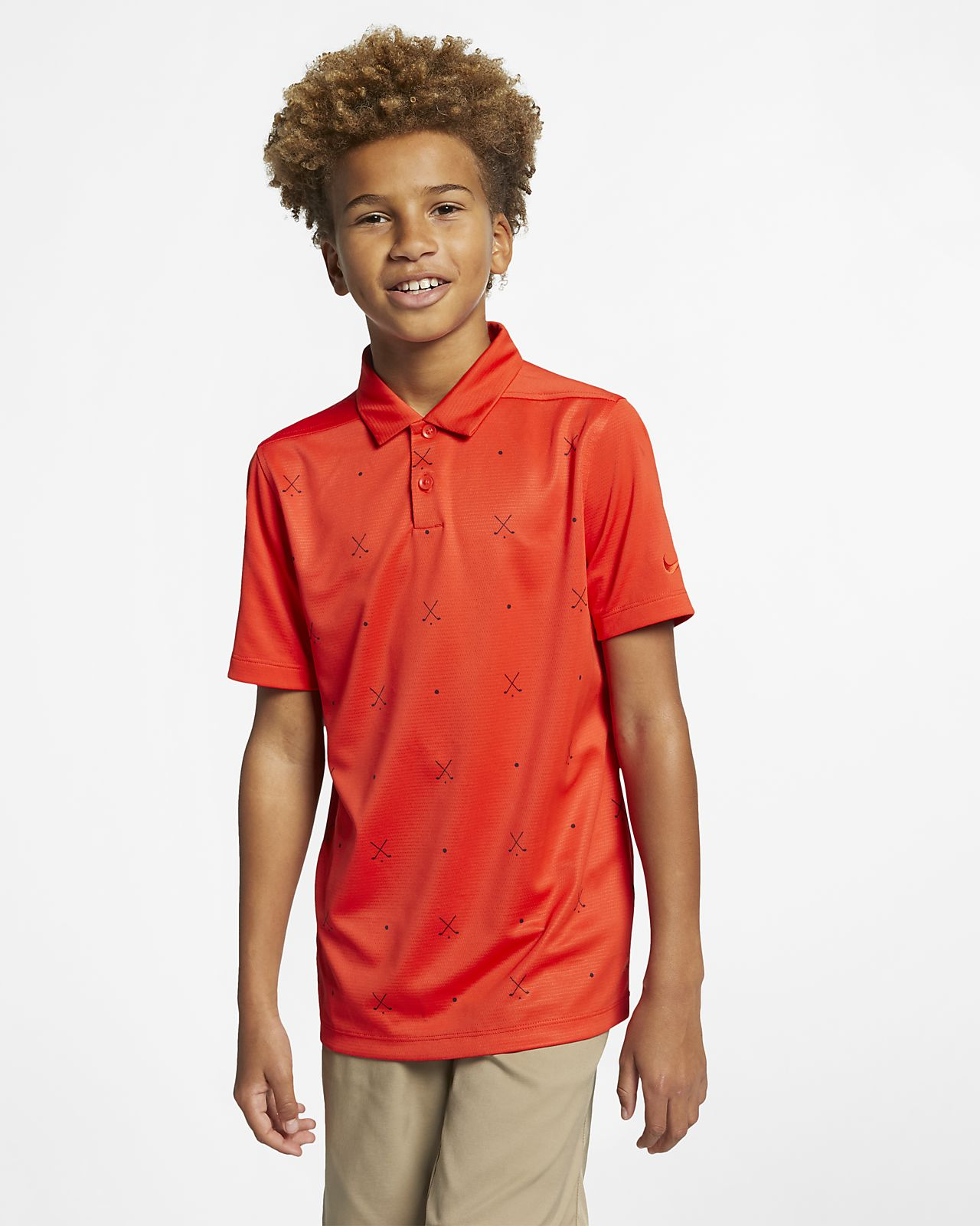 Nike Dri-FIT Big Kids' (Boys') Printed Golf Polo