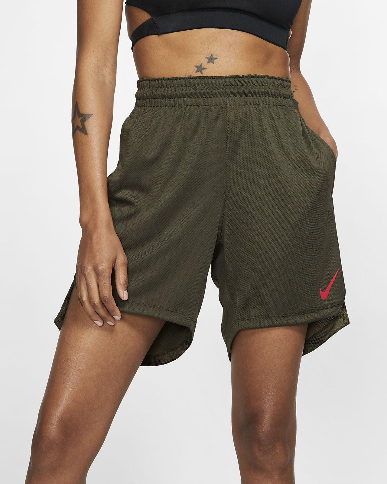 Shorts da basket in maglia Nike Elite - Donna