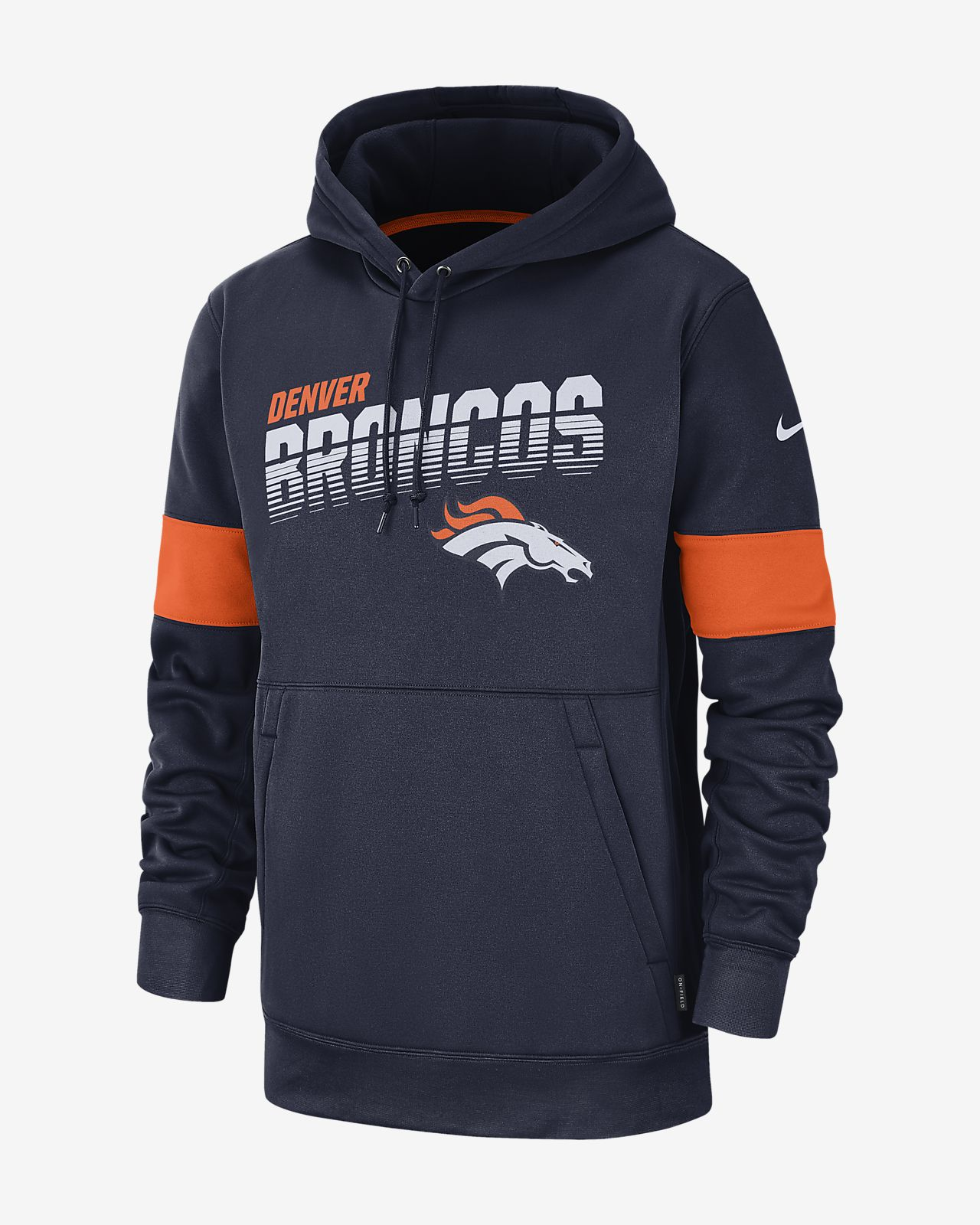 lowest price 9eb57 f8bb8 Nike Therma (NFL Broncos) Men's Hoodie