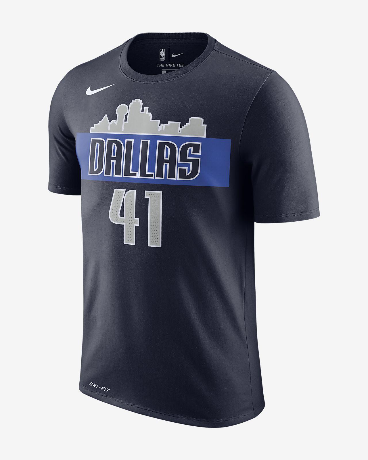 达拉斯独行侠队 (Dirk Nowitzki) Nike Dri-FIT 男子 NBA T恤