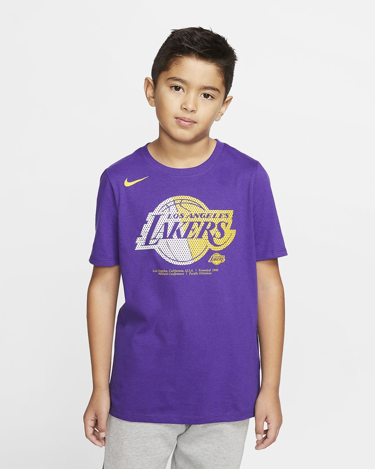 Lakers Logo Older Kids' Nike Dri FIT NBA T Shirt
