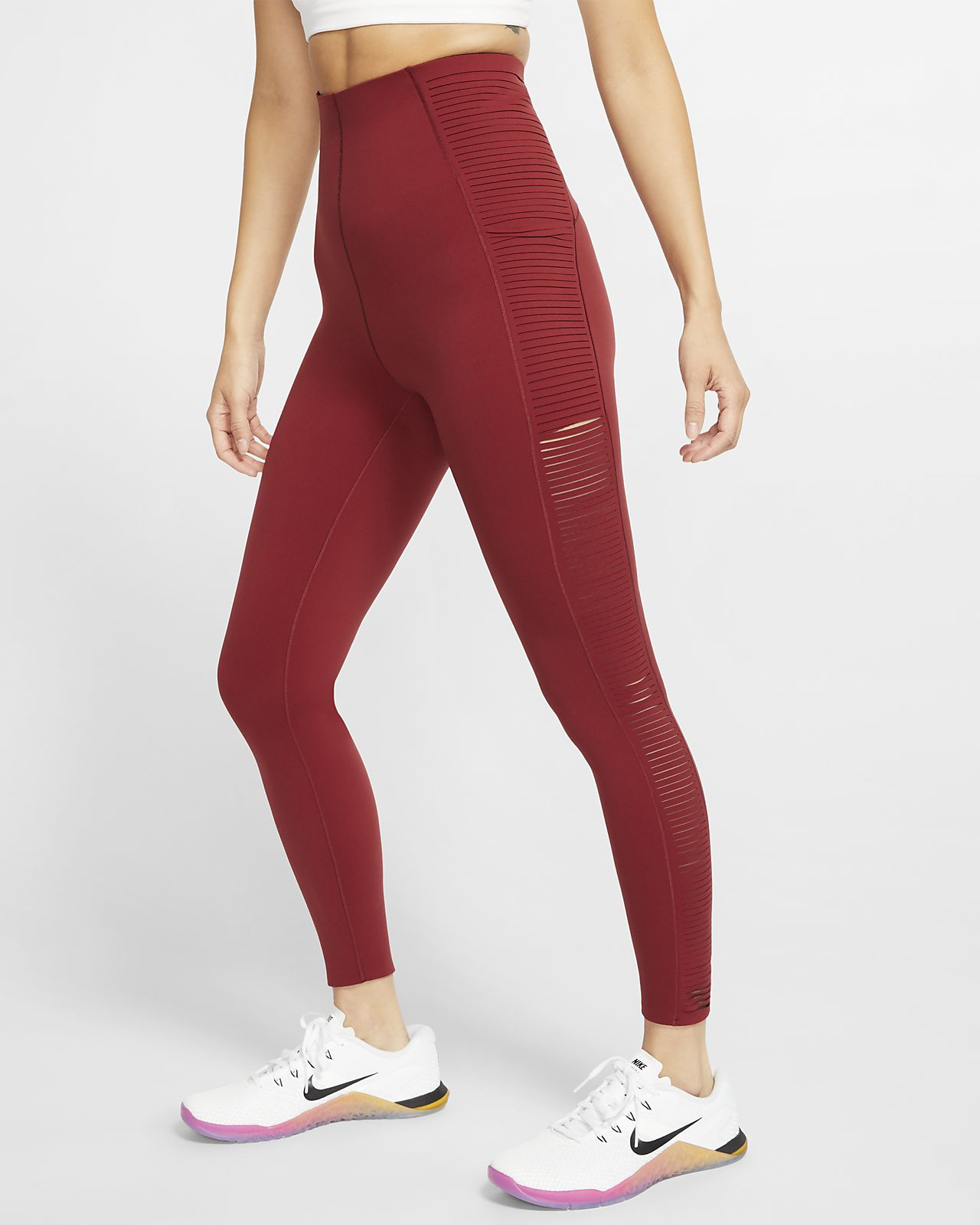 Tights de treino com franja Nike para mulher
