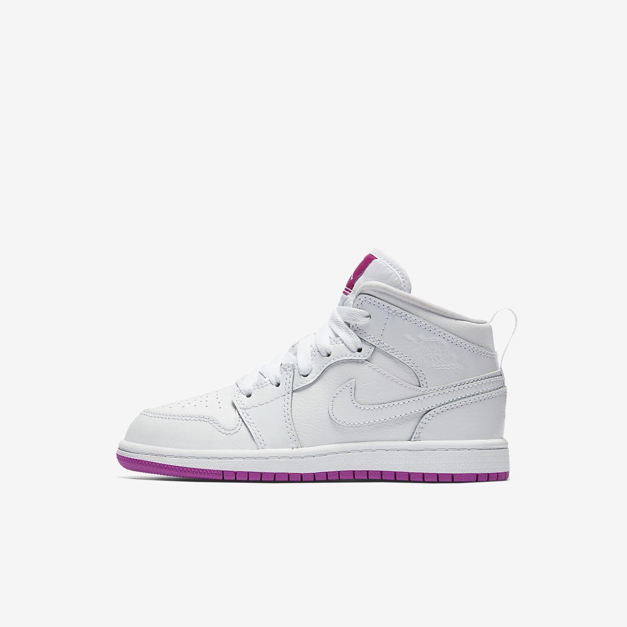 ... Air Jordan 1 Mid (10.5c-3y) Preschool Kids' Shoe
