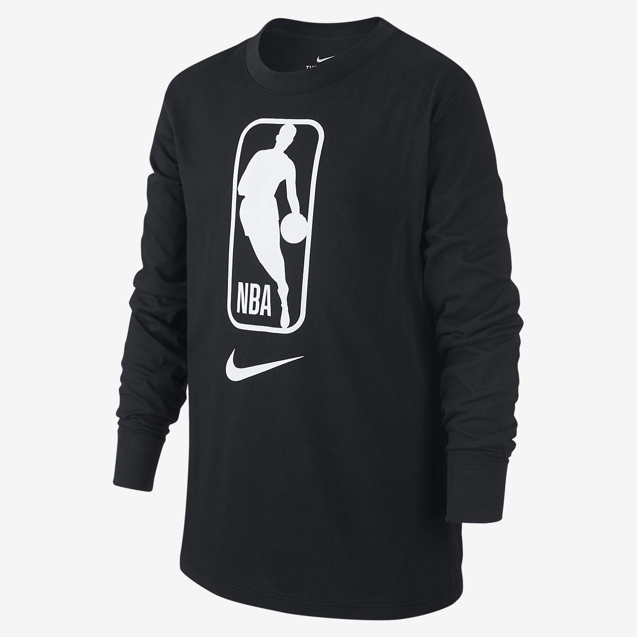 Tee-shirt NBA à manches longues Nike Dri-FIT pour Enfant