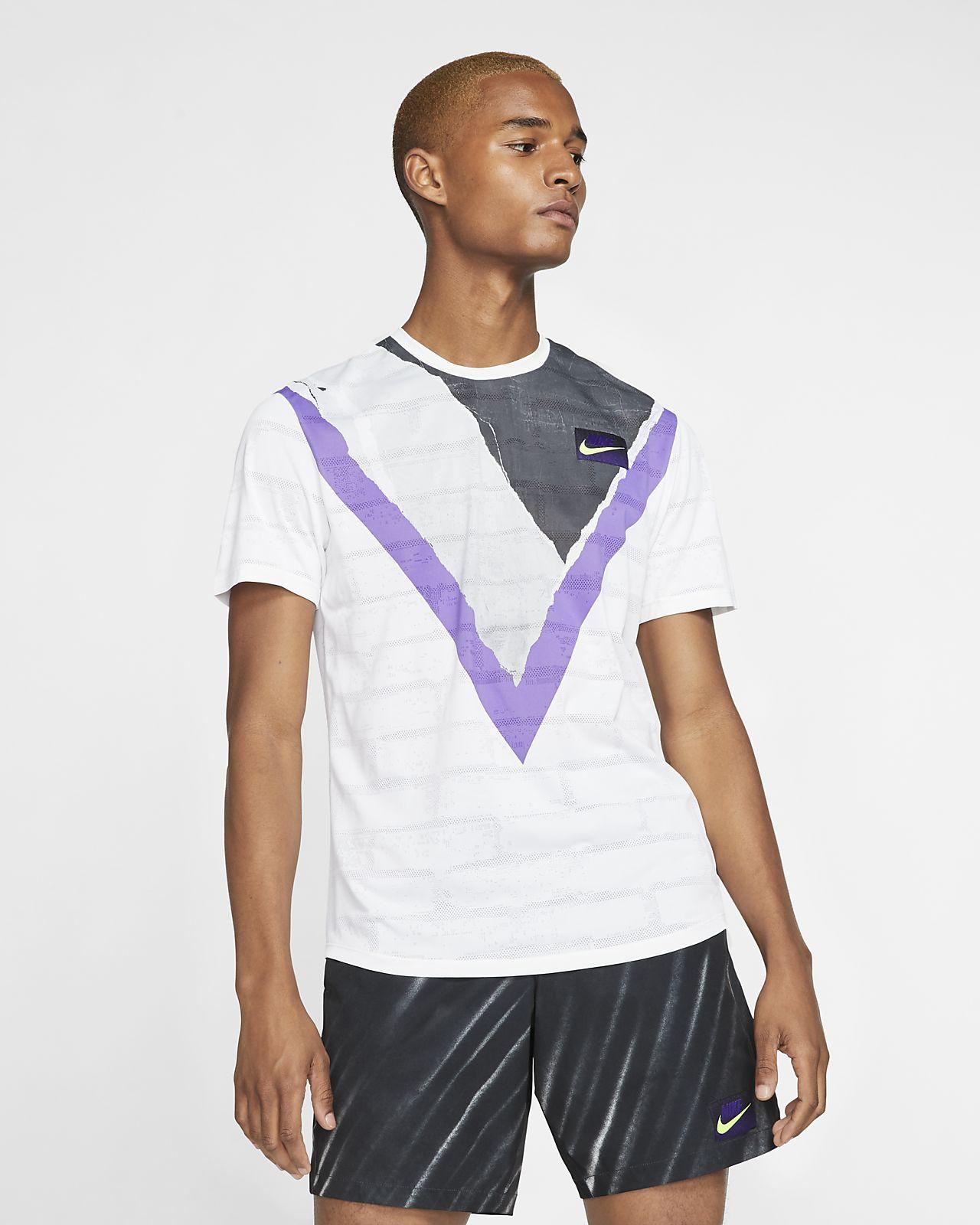 Maglia da tennis a manica corta NikeCourt Challenger - Uomo